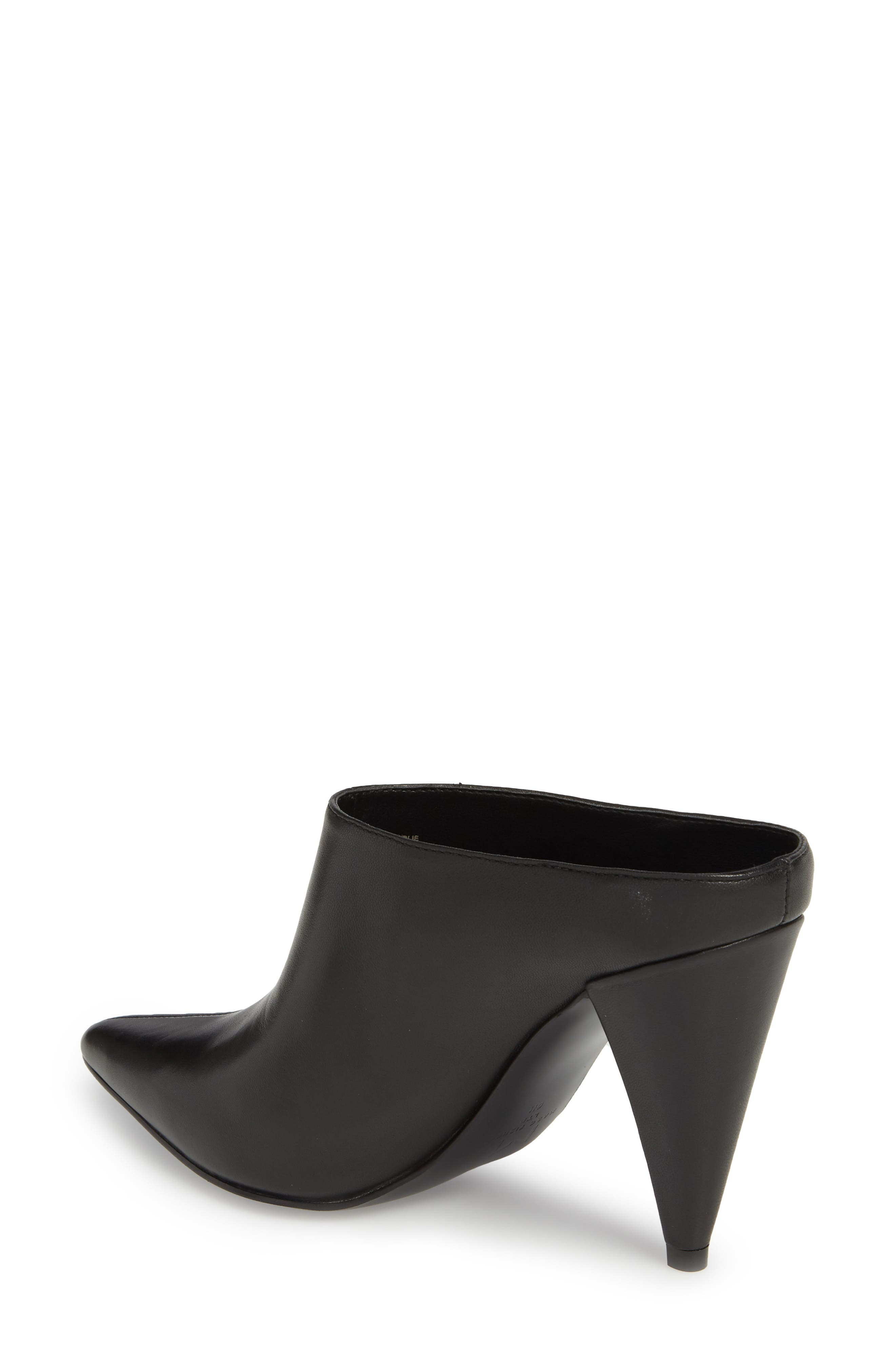 Harlie Pointy Toe Mule,                             Alternate thumbnail 2, color,                             BLACK LEATHER