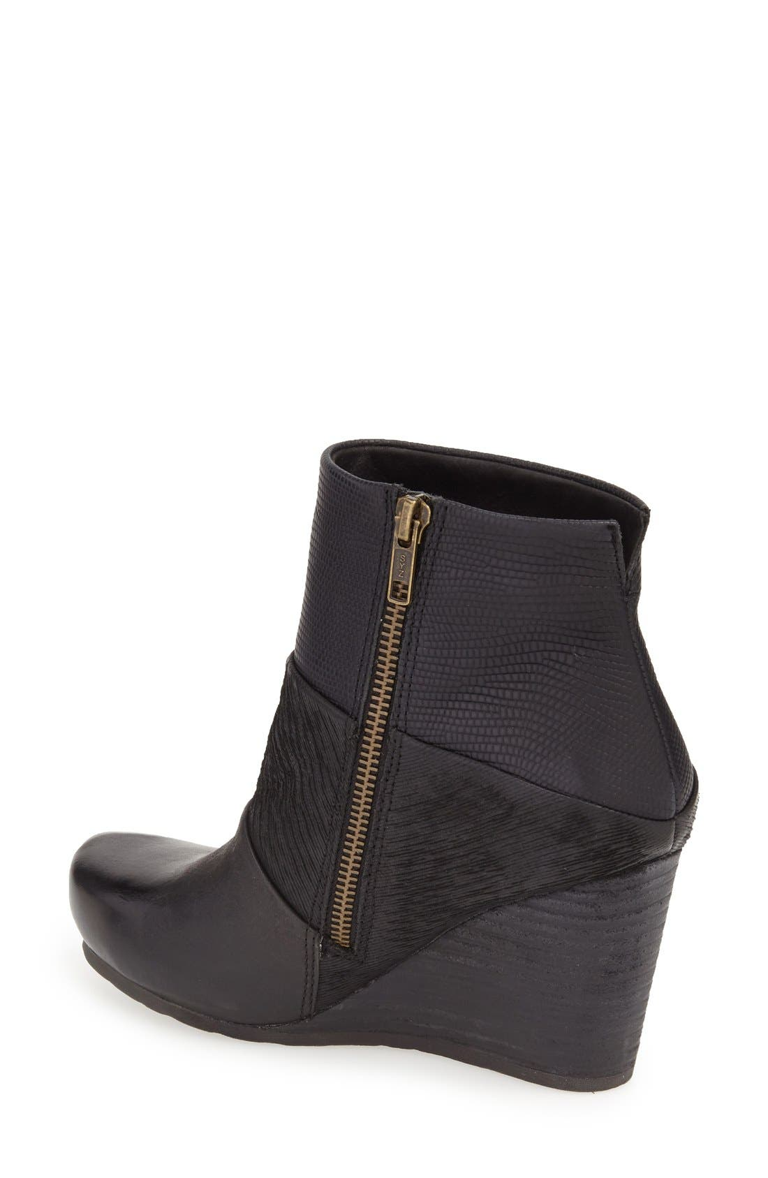 'Dharma' Wedge Bootie,                             Alternate thumbnail 3, color,                             001