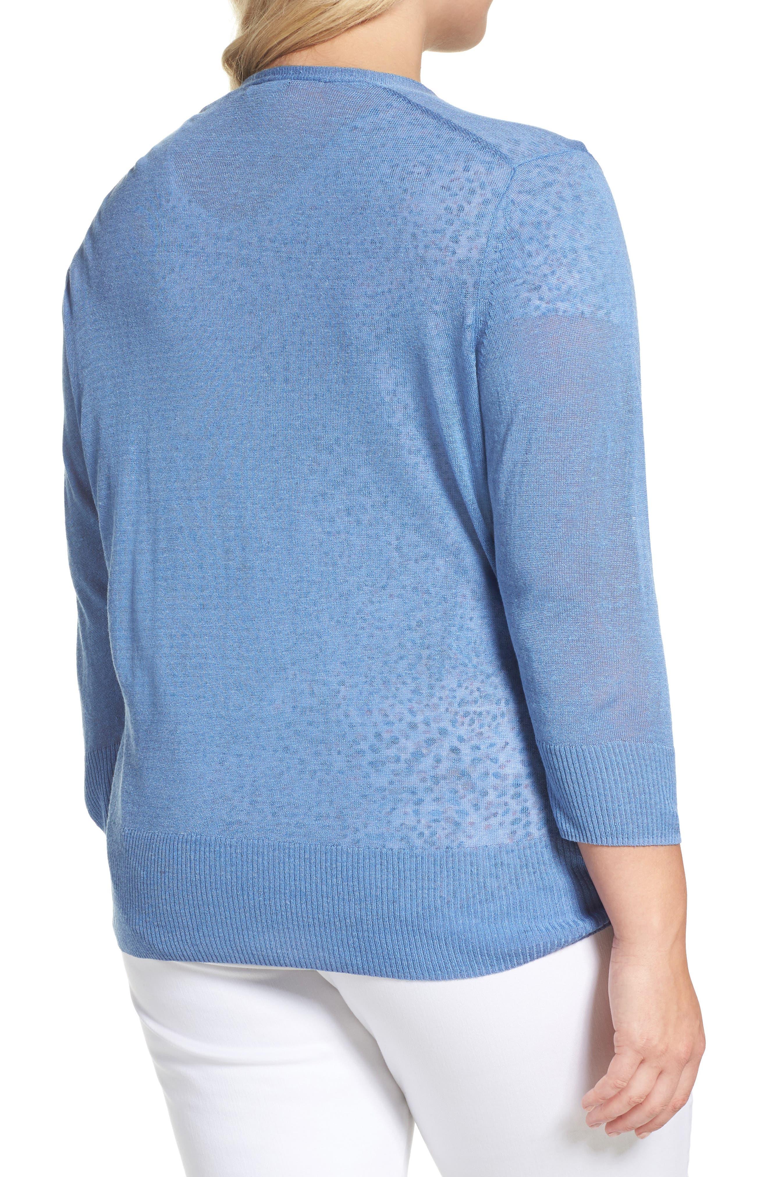 Four-Way Convertible Cardigan,                             Alternate thumbnail 2, color,                             BLUE HAZE