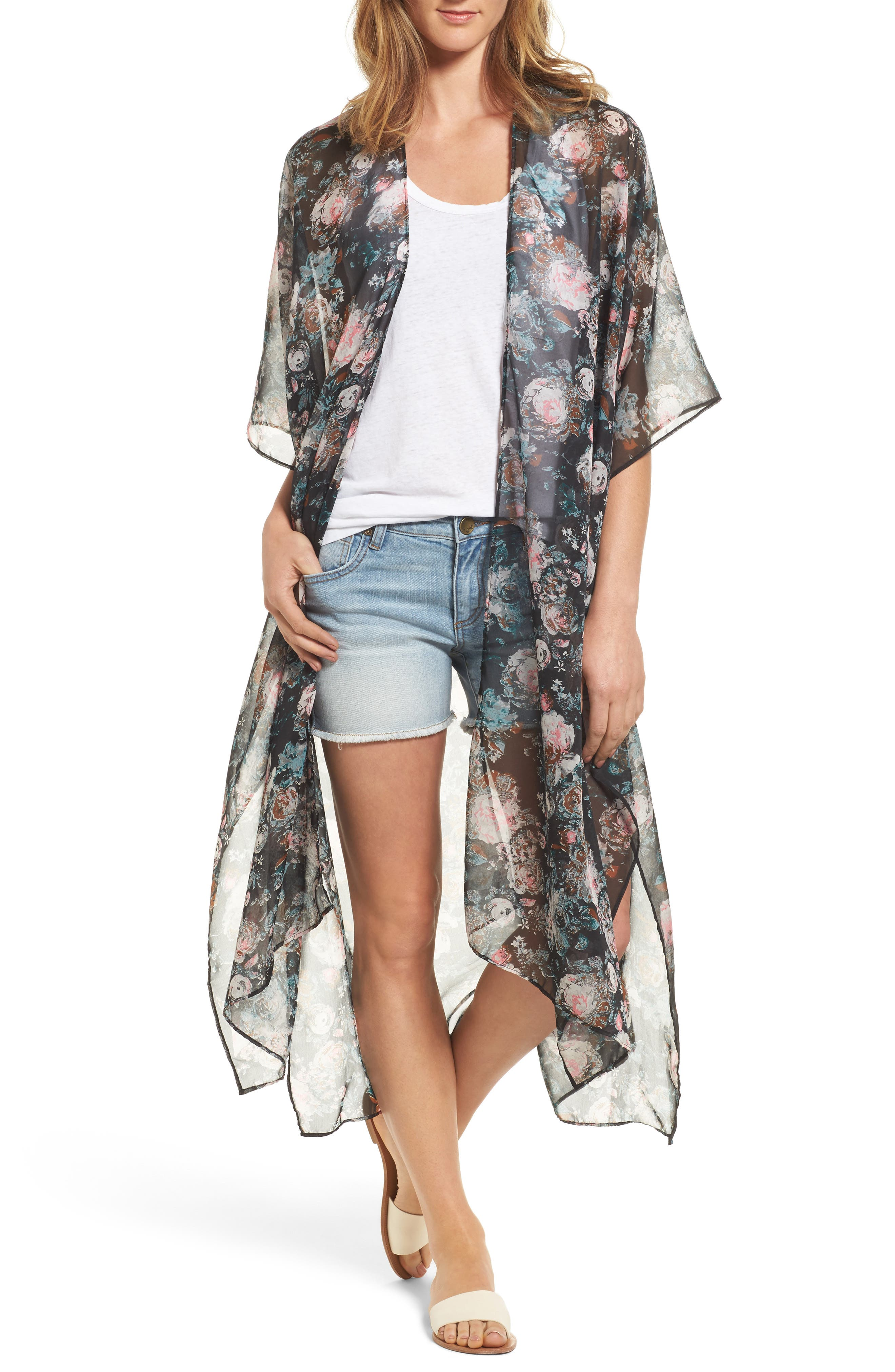 Rose Romance Duster Jacket,                         Main,                         color, 001