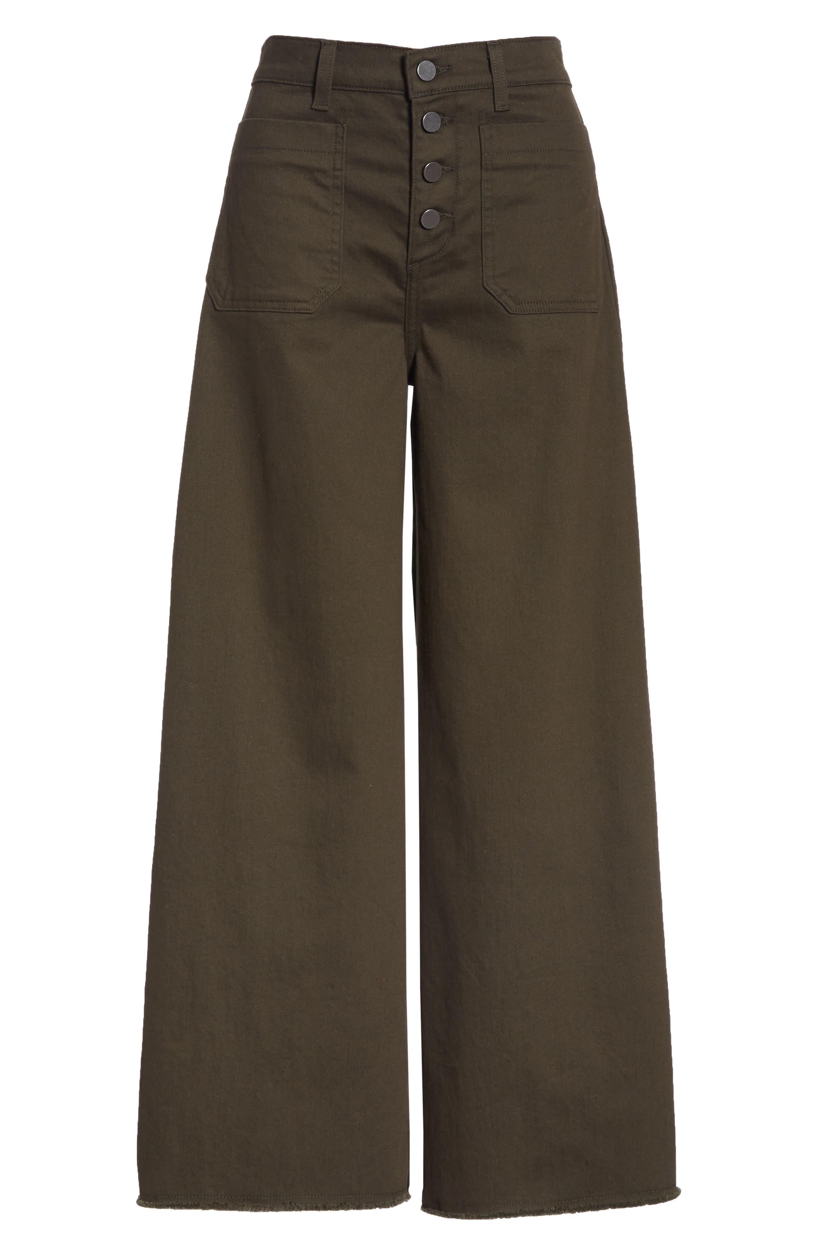 Carmine High Waist Wide Leg Crop Jeans,                             Alternate thumbnail 6, color,                             COMBAT