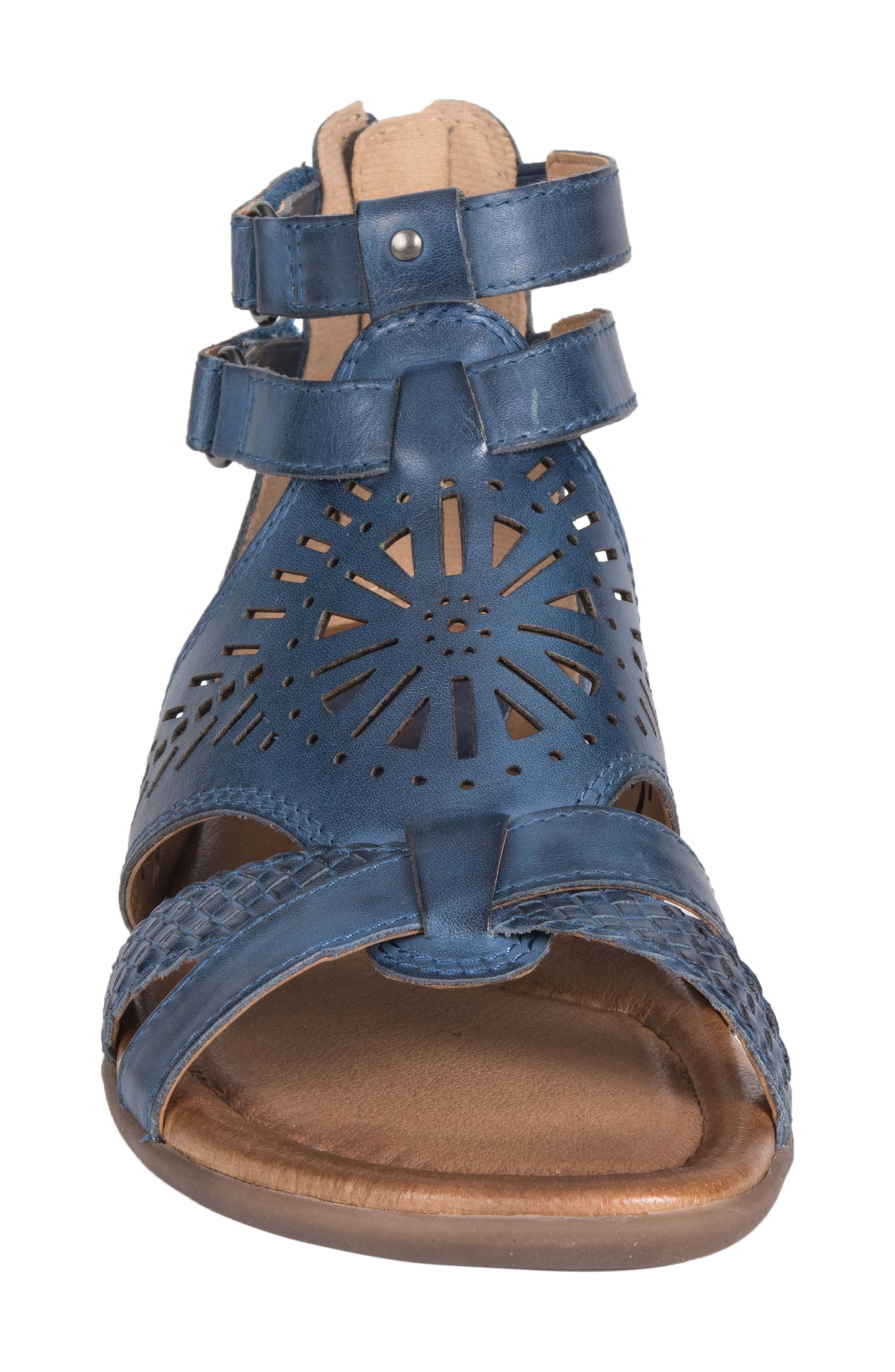Breaker Sandal,                             Alternate thumbnail 4, color,                             SAPPHIRE BLUE LEATHER