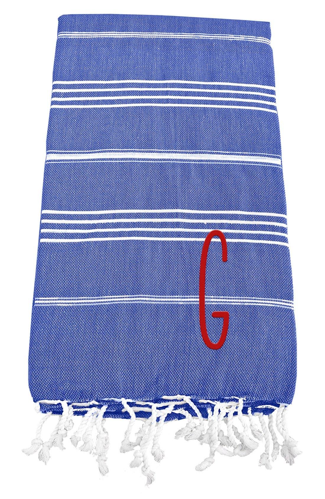 Monogram Turkish Cotton Towel,                             Main thumbnail 63, color,