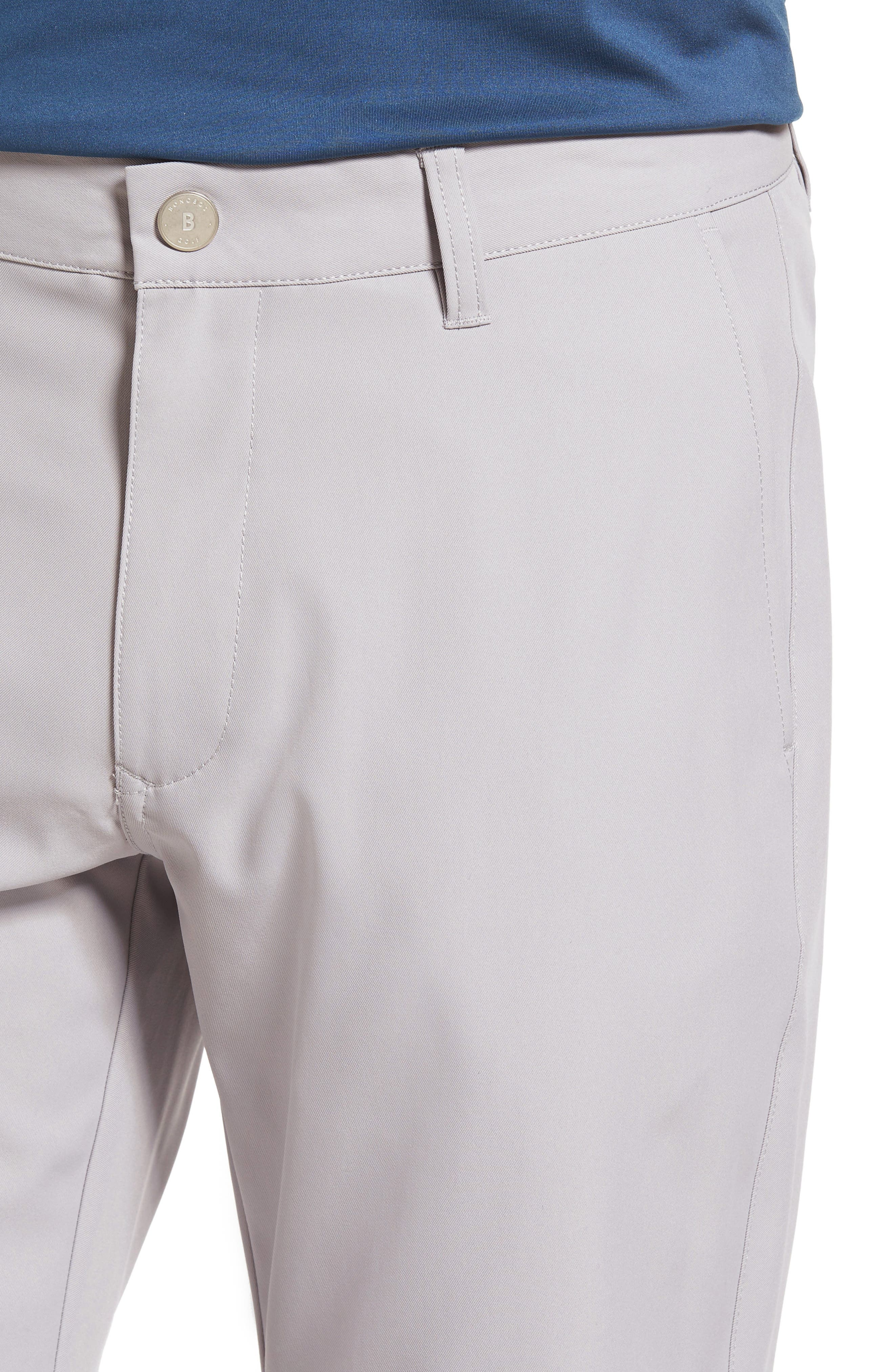 Highland Slim Fit Golf Pants,                             Alternate thumbnail 4, color,                             LIGHT GREY