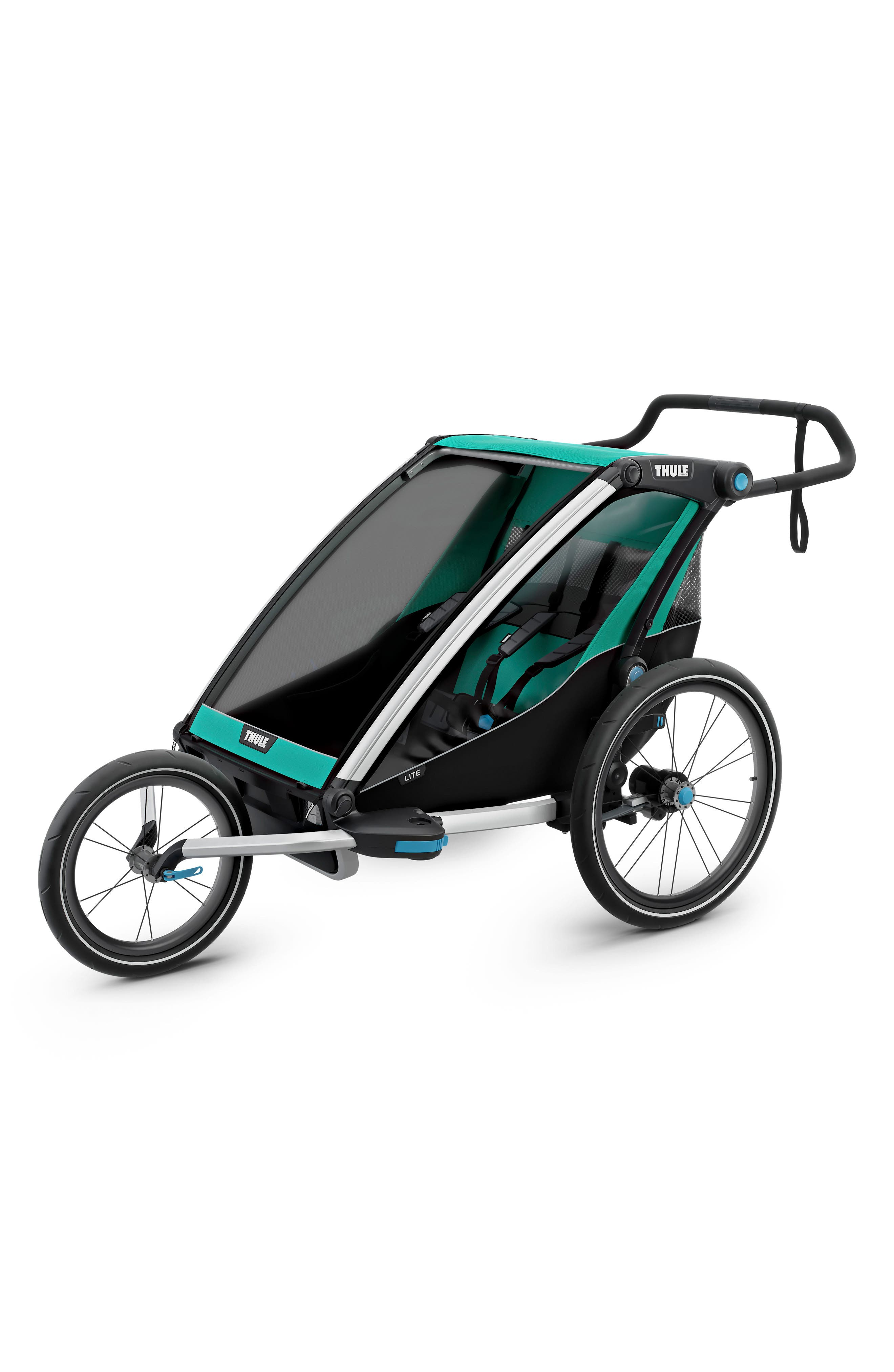 Chariot Lite 2 Multisport Double Cycle Trailer/Stroller,                             Alternate thumbnail 5, color,                             BLUEGRASS