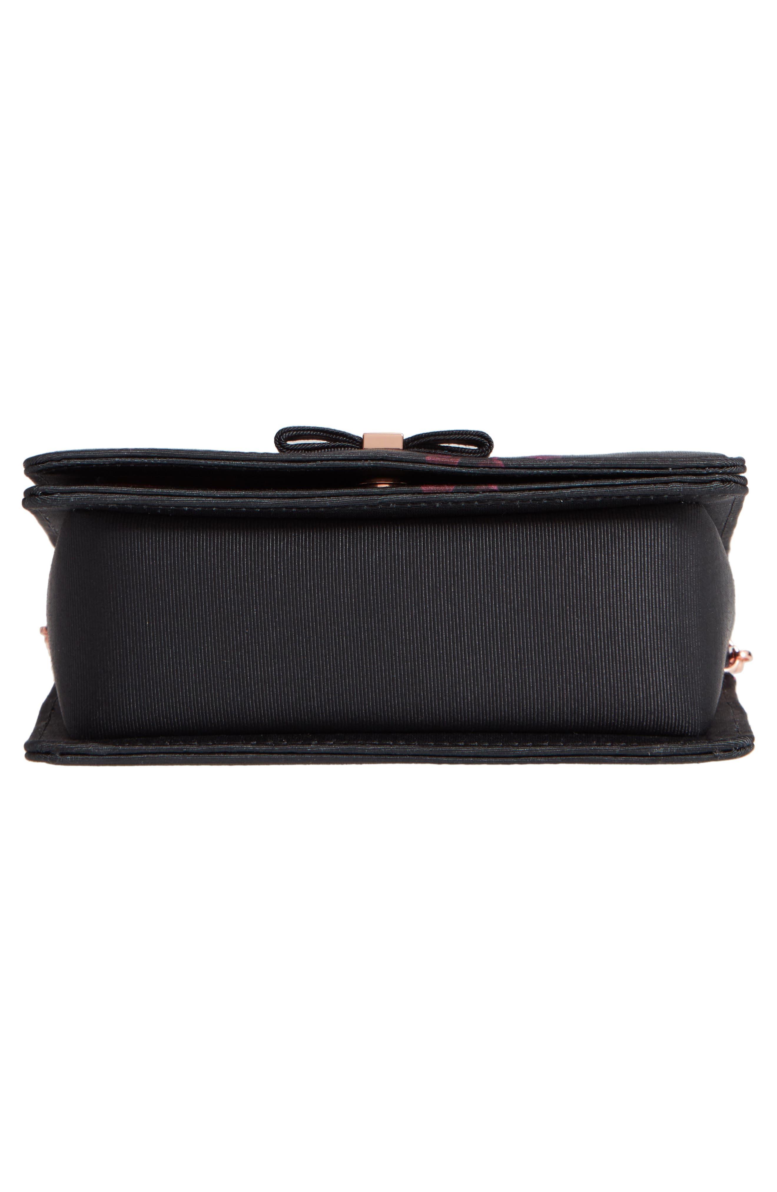 Splendour Mini Bow Evening Bag,                             Alternate thumbnail 6, color,                             001