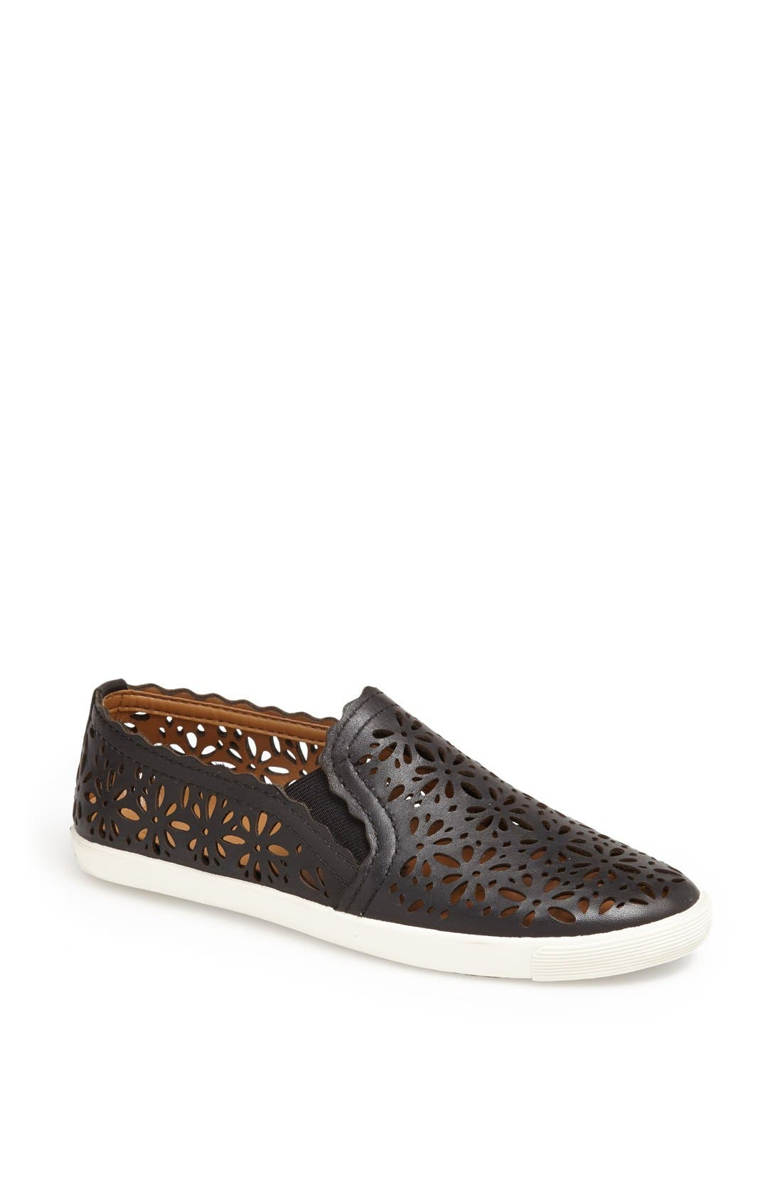 AERIN,                             'Murex' Perforated Slip-On Sneaker,                             Main thumbnail 1, color,                             001