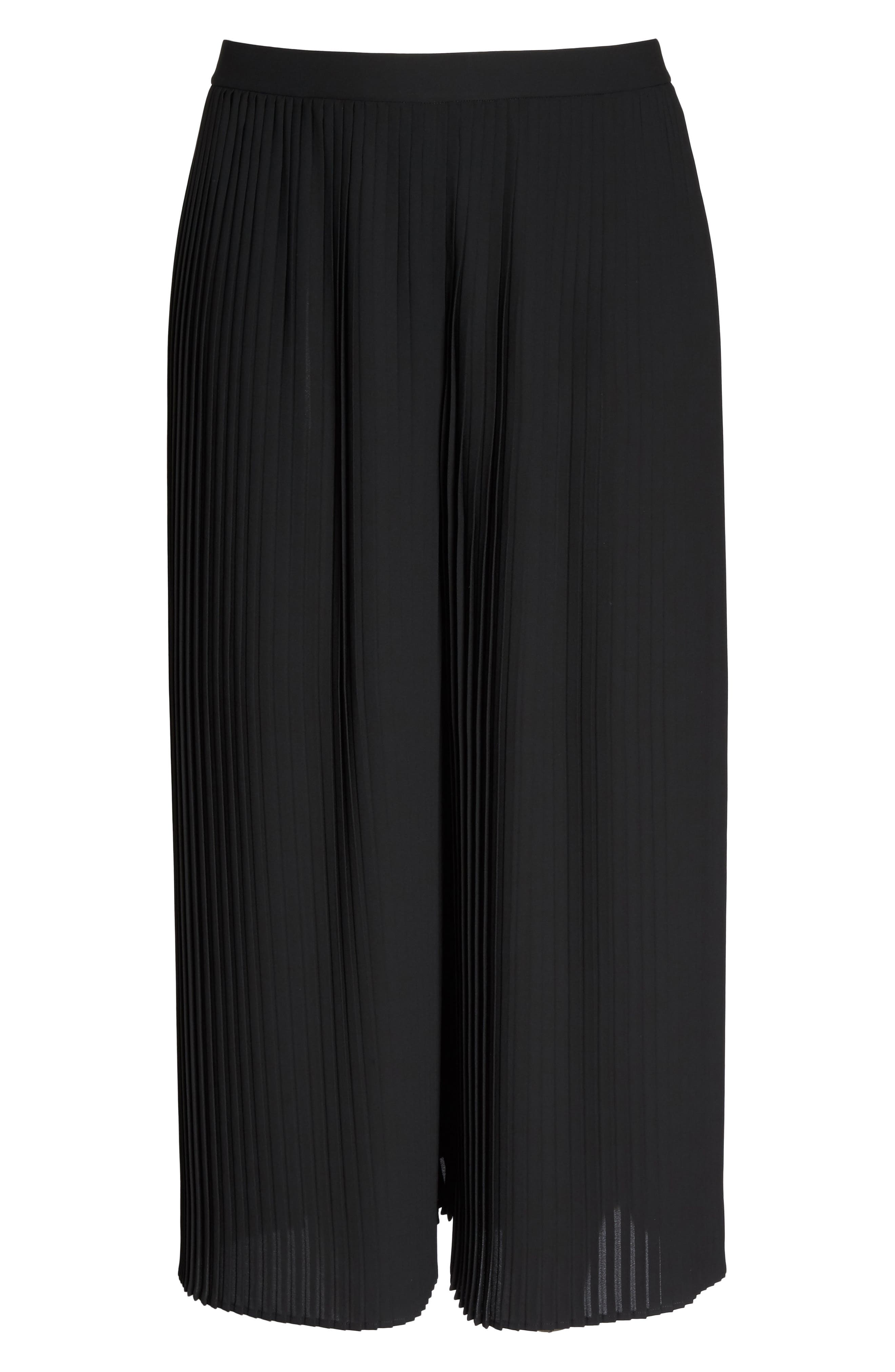 Pleat Wide Leg Ankle Pants,                             Alternate thumbnail 6, color,