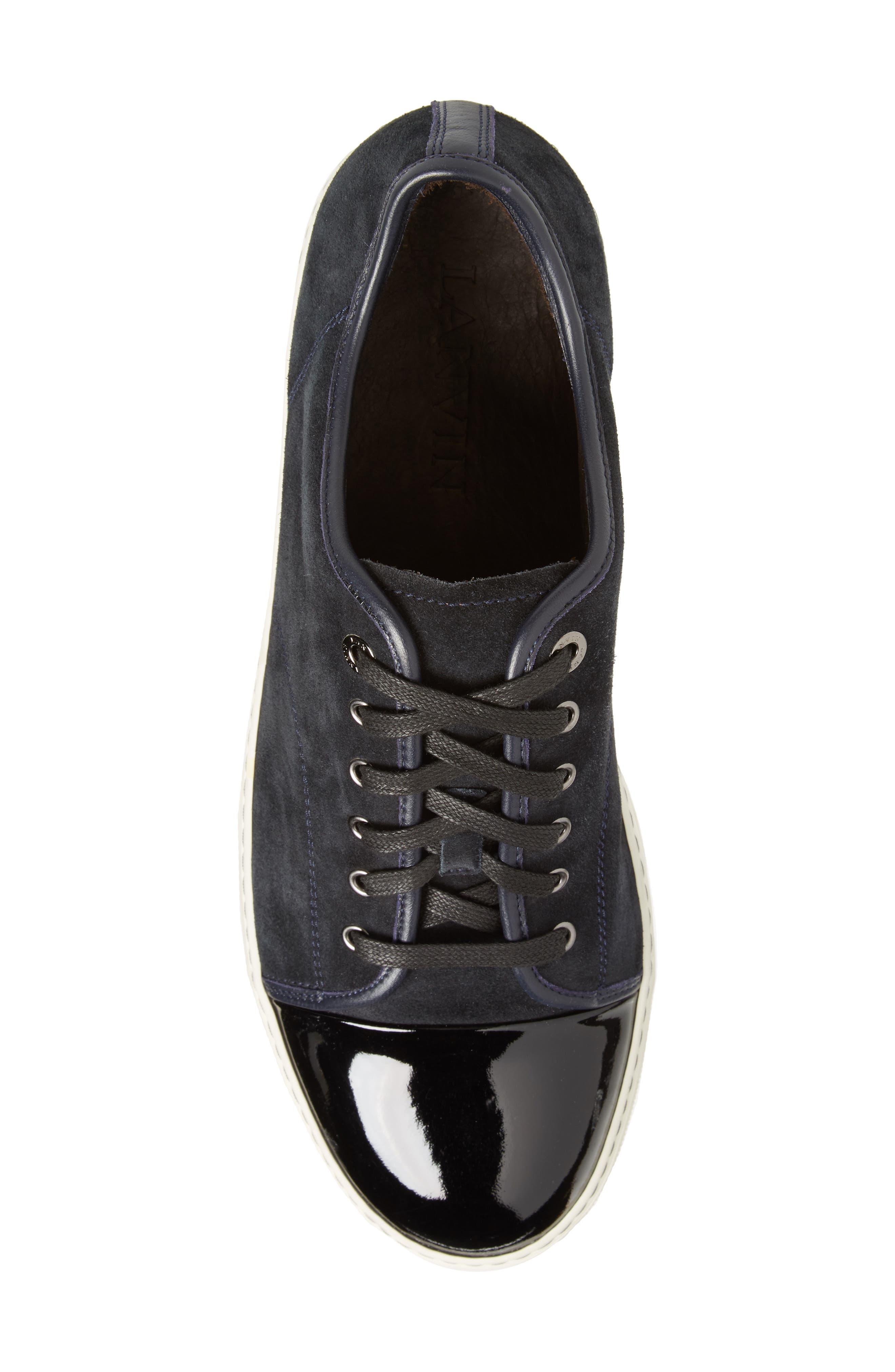 Low Top Suede Sneaker,                             Alternate thumbnail 5, color,                             024