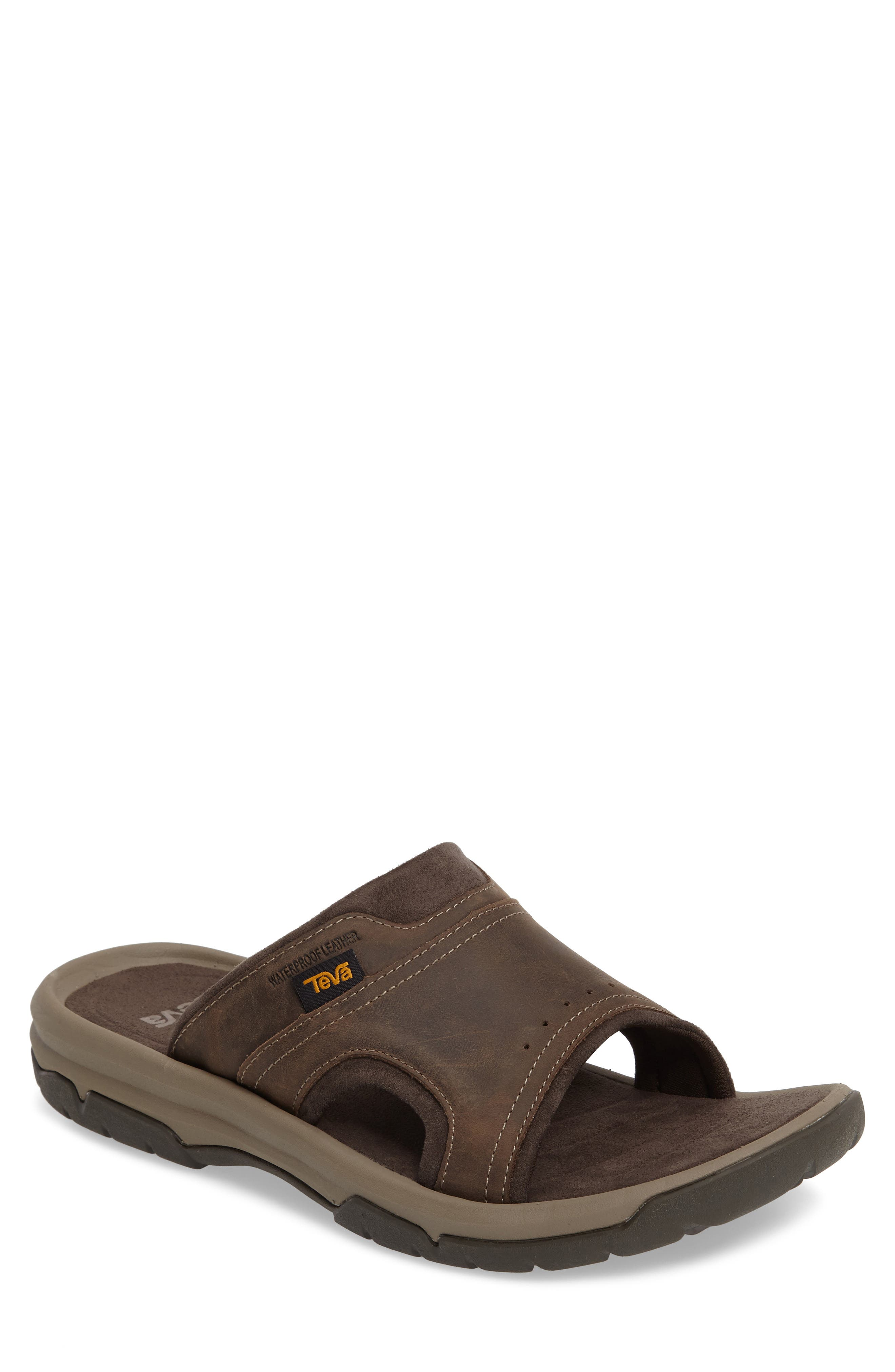 Teva Langdon Slide Sandal, Brown