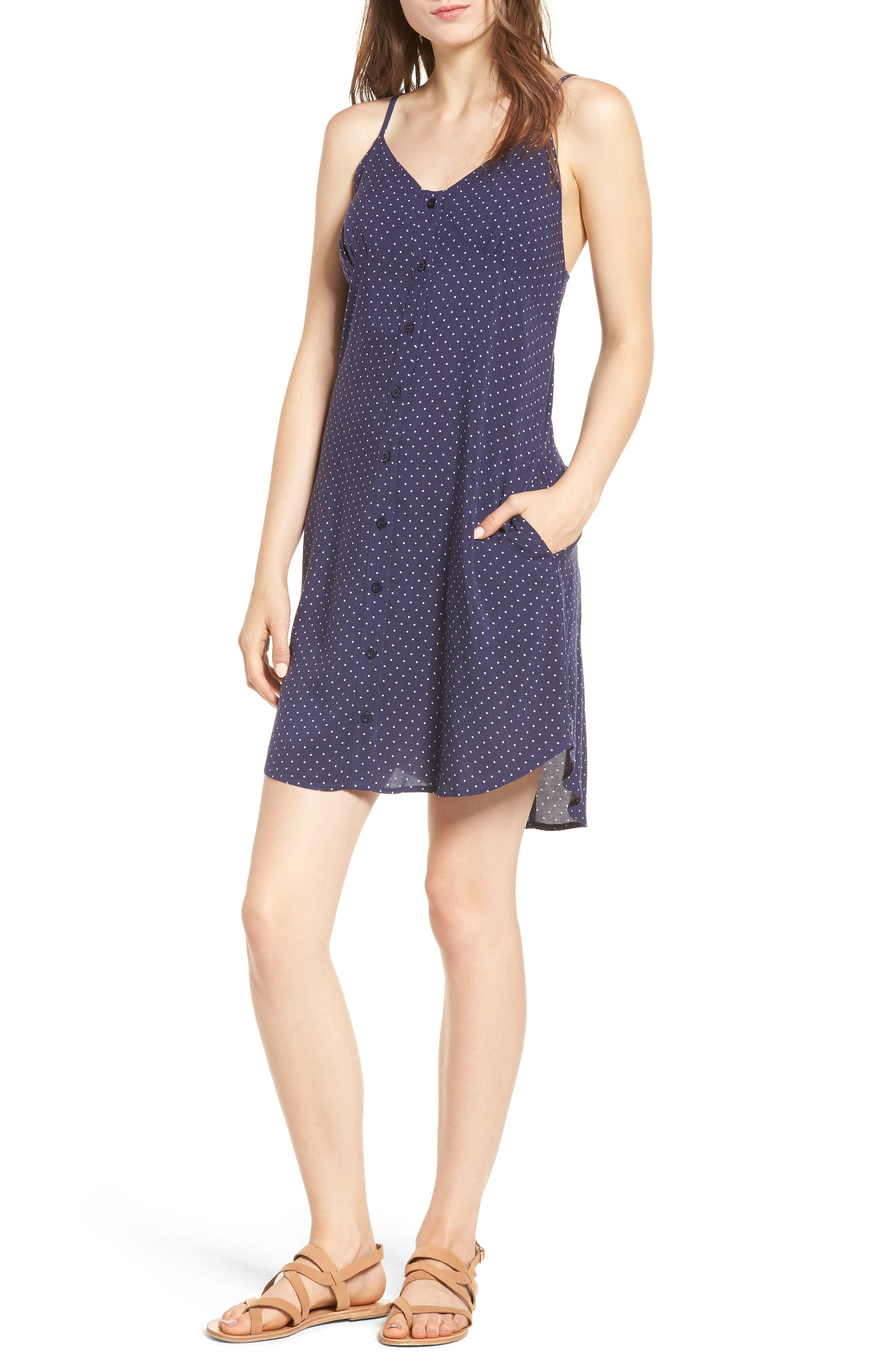 Button Front Dress,                         Main,                         color,