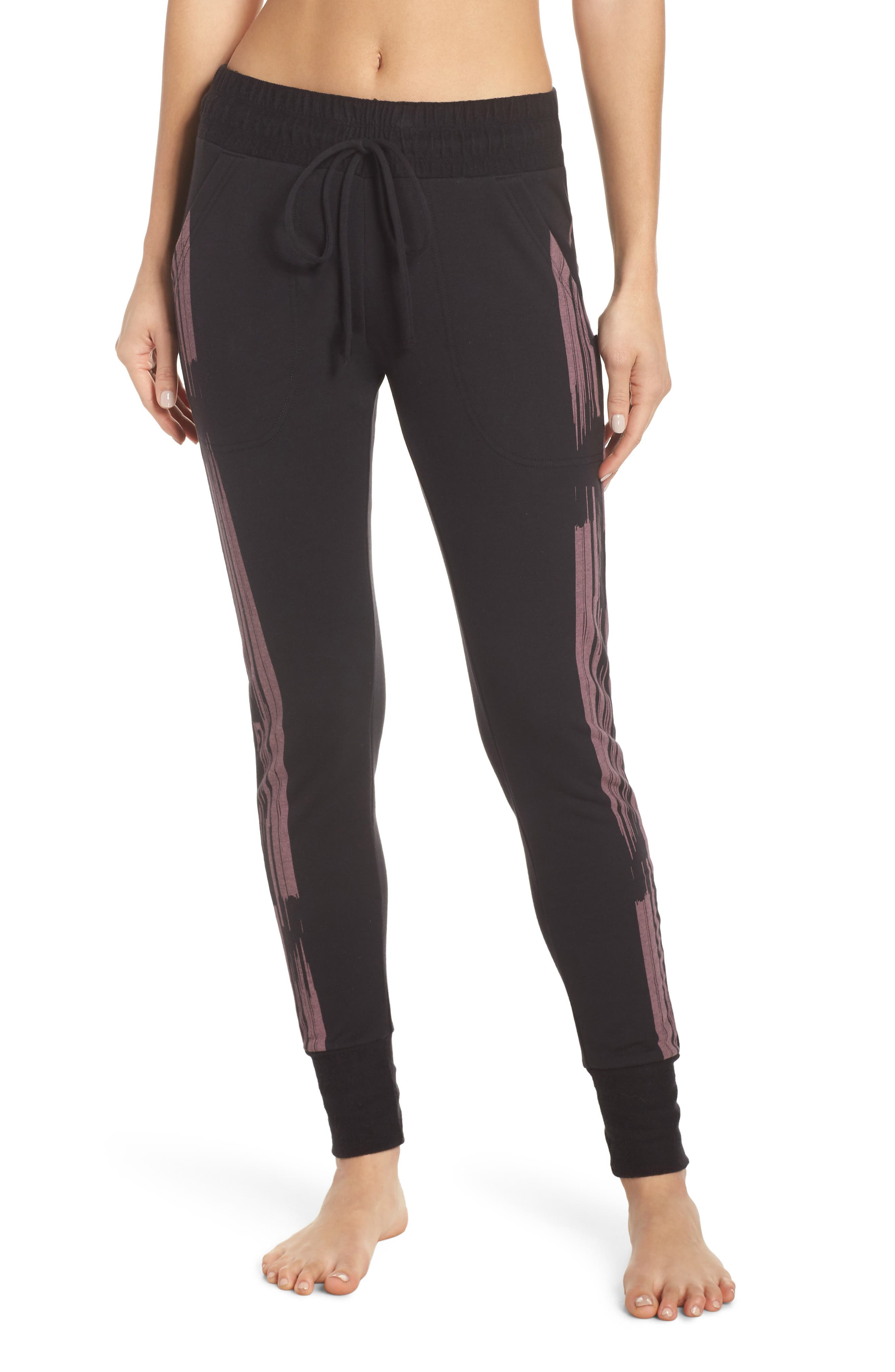 Fp Movement Sunny Skinny Sweat Jogger Pants in Black/ Pink