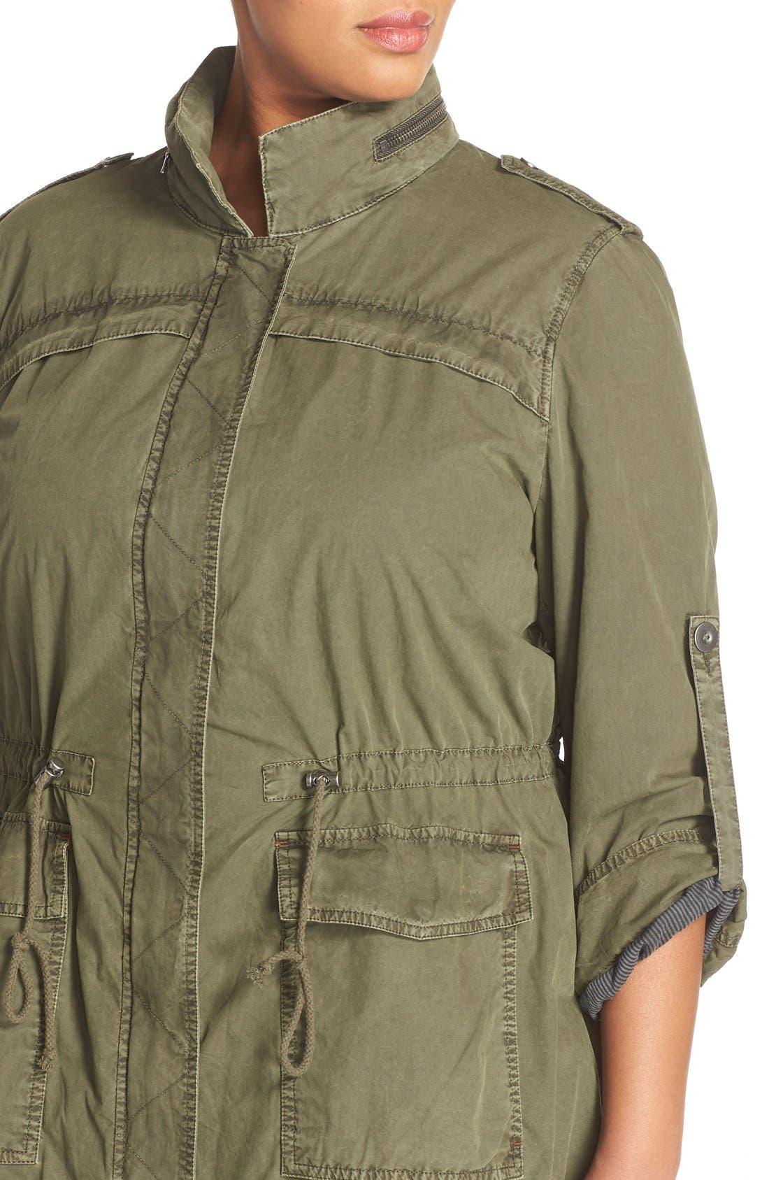 Parachute Hooded Cotton Utility Jacket,                             Alternate thumbnail 12, color,