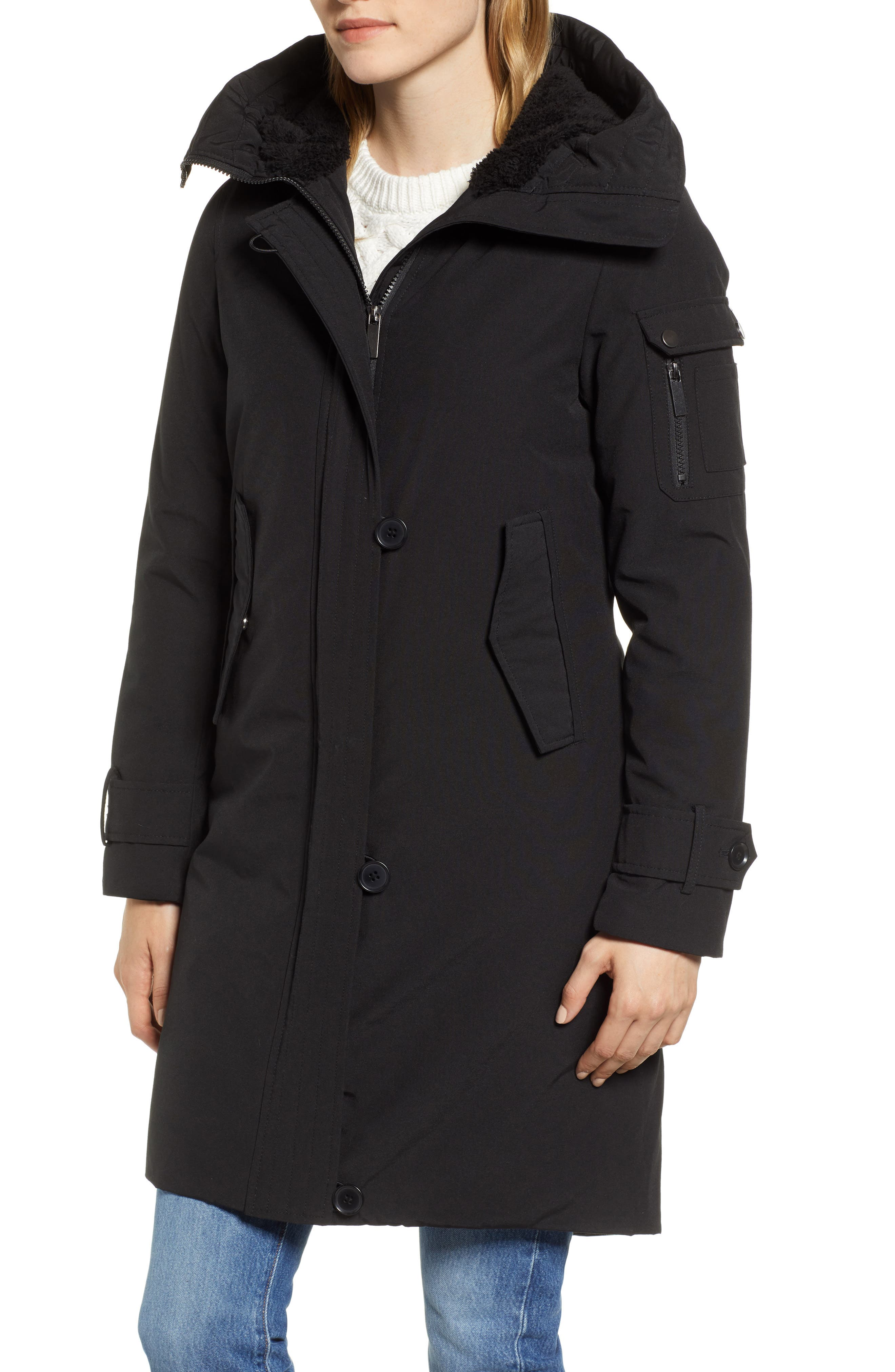 Heavyweight Parka,                             Alternate thumbnail 4, color,                             BLACK