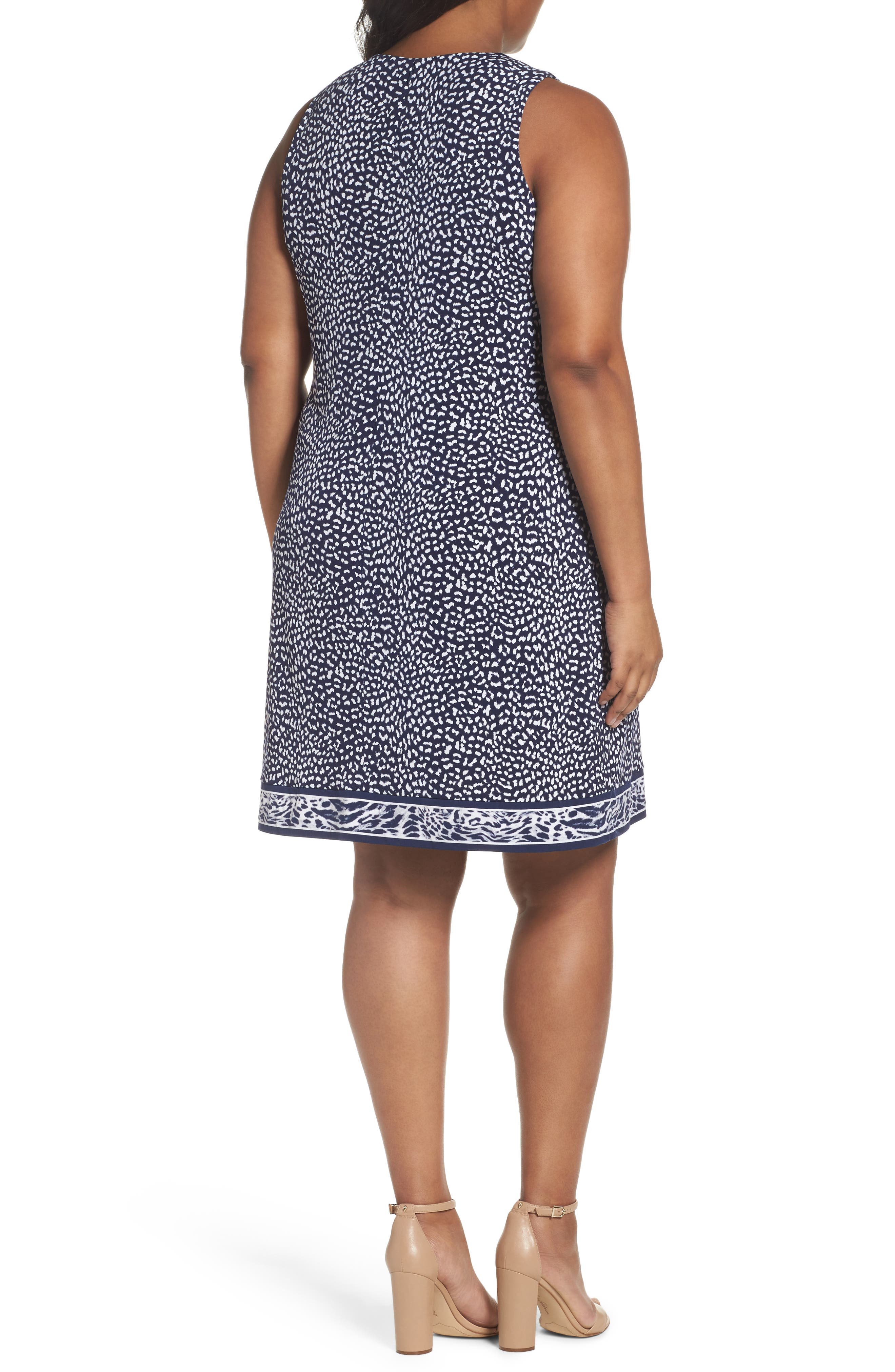 Animal Print Sheath Dress,                             Alternate thumbnail 2, color,                             456