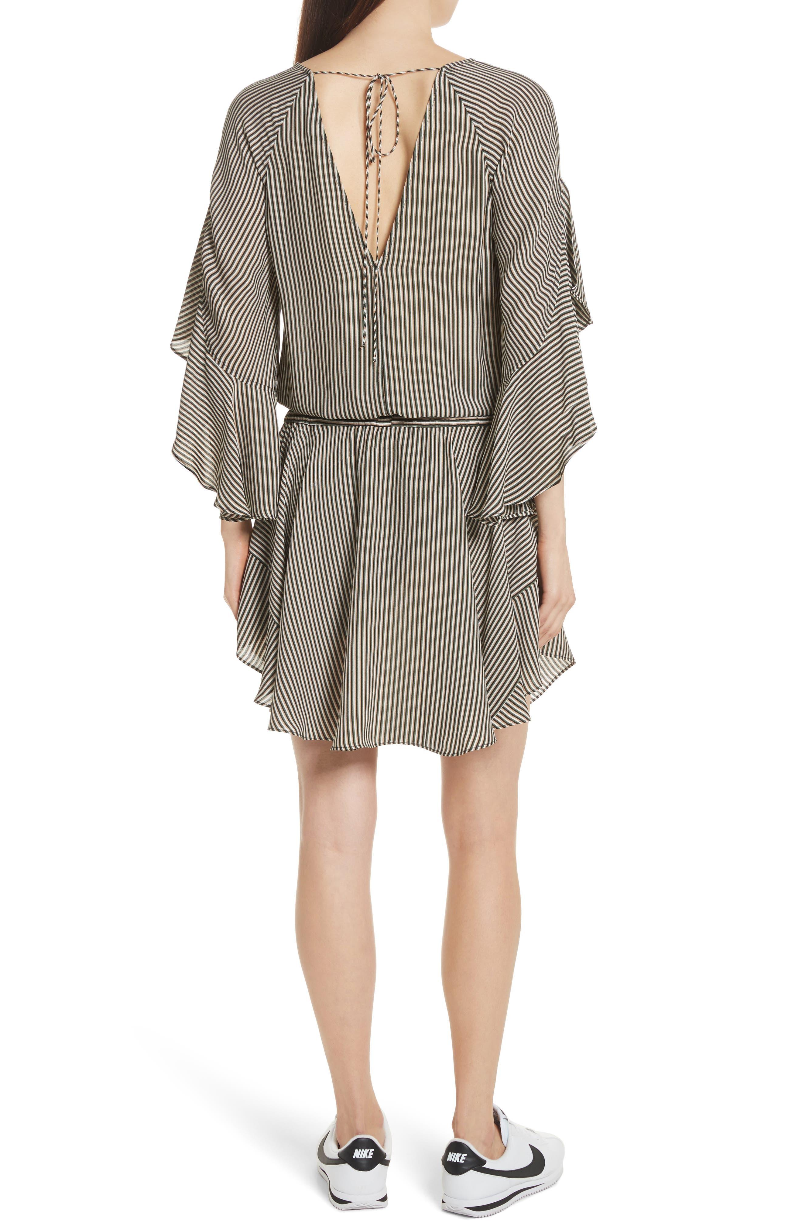Cannon Stripe Silk Dress,                             Alternate thumbnail 2, color,                             101
