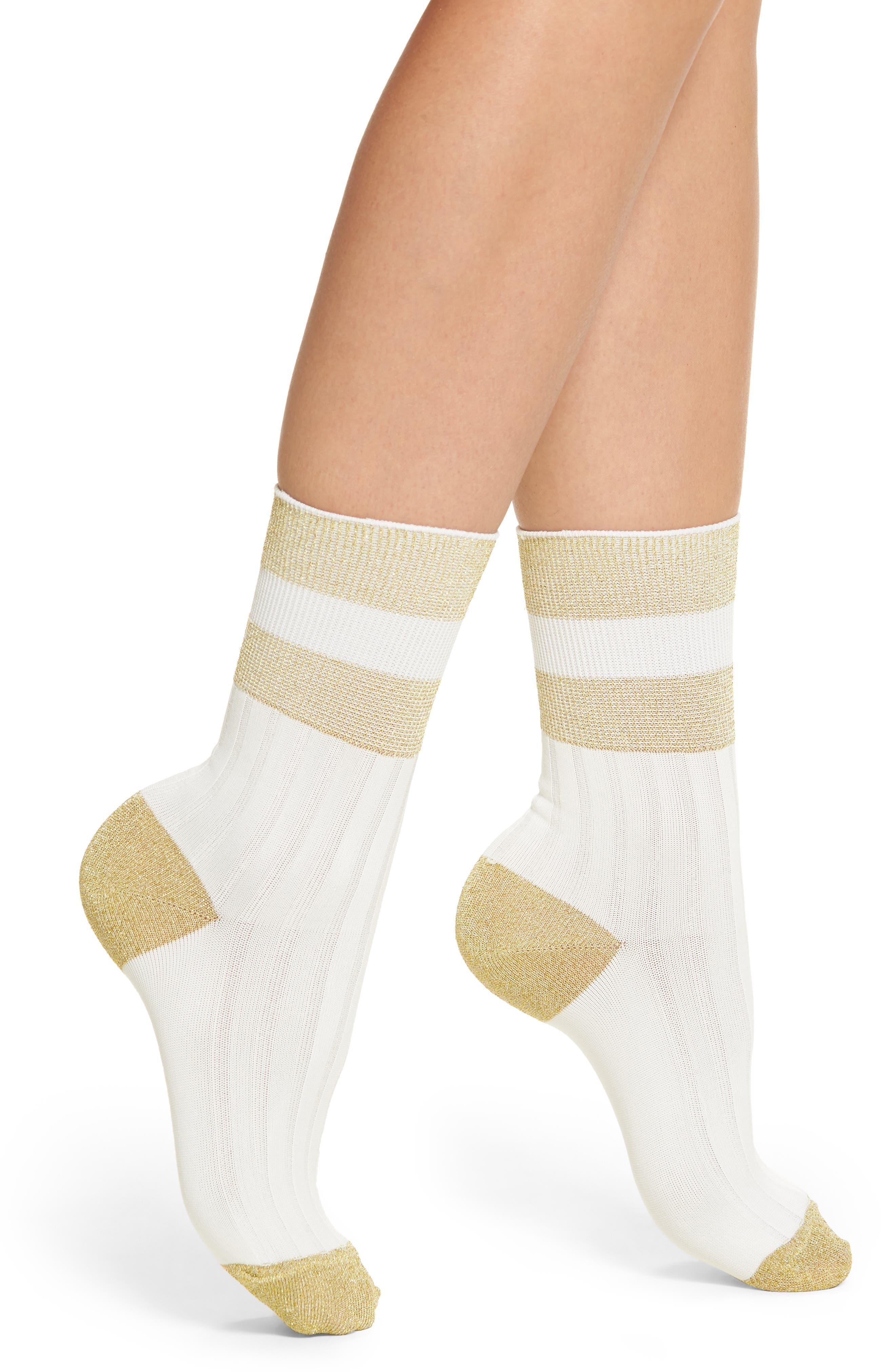 Varsity Stripe Crew Socks,                             Main thumbnail 1, color,