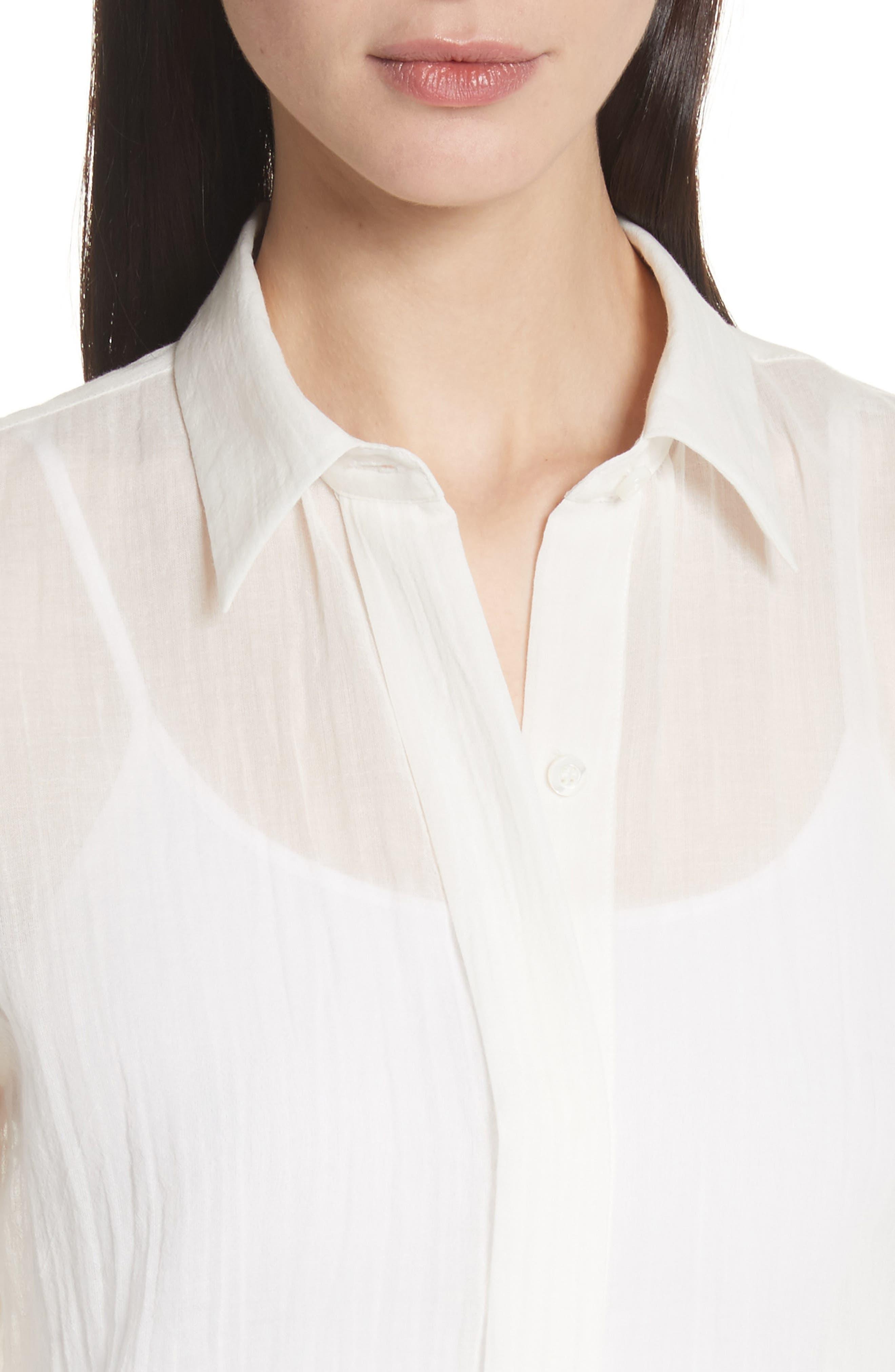 Essential Button-Down Cotton Shirt,                             Alternate thumbnail 8, color,