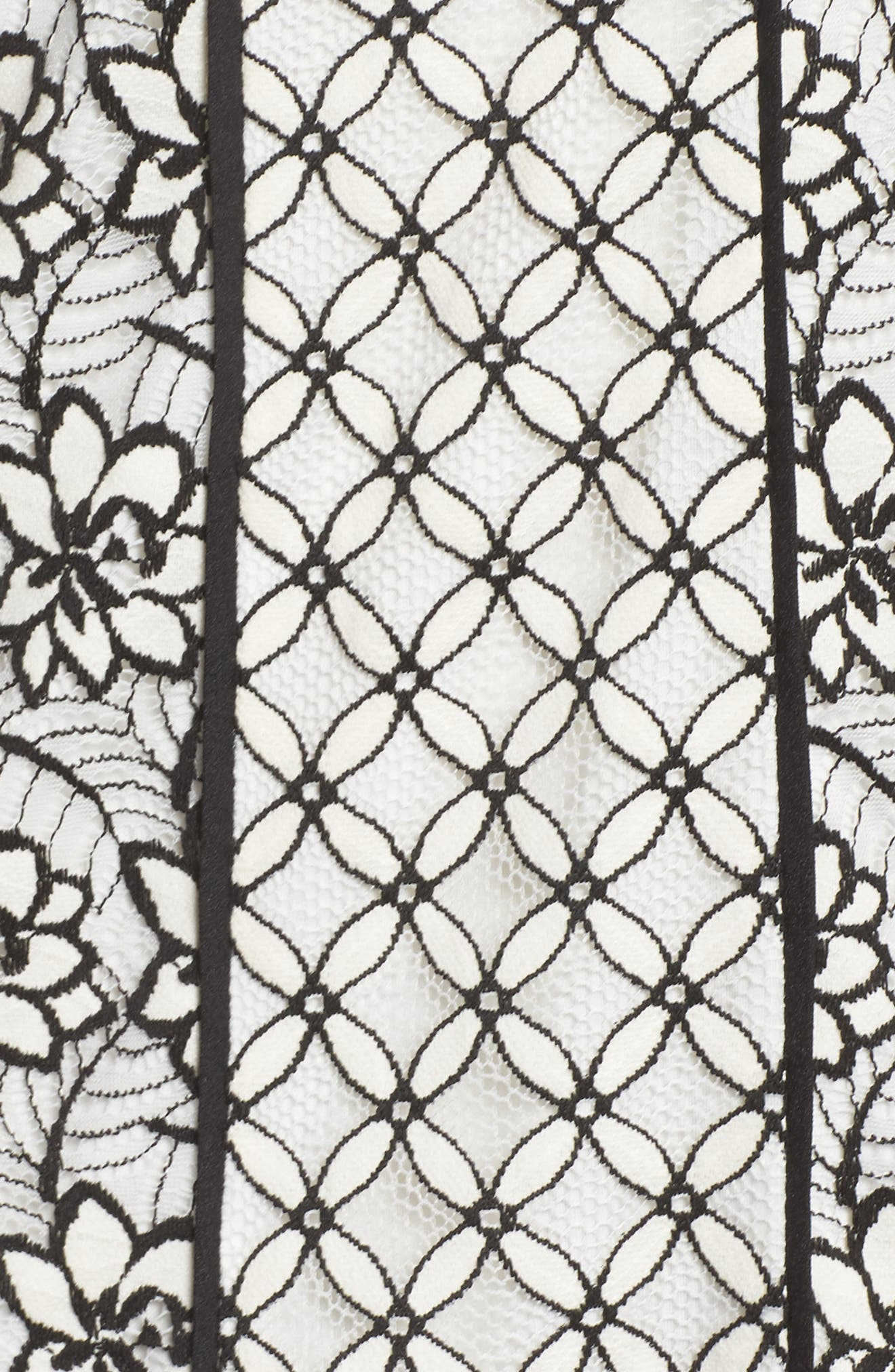 Lace Shift Dress,                             Alternate thumbnail 5, color,                             002