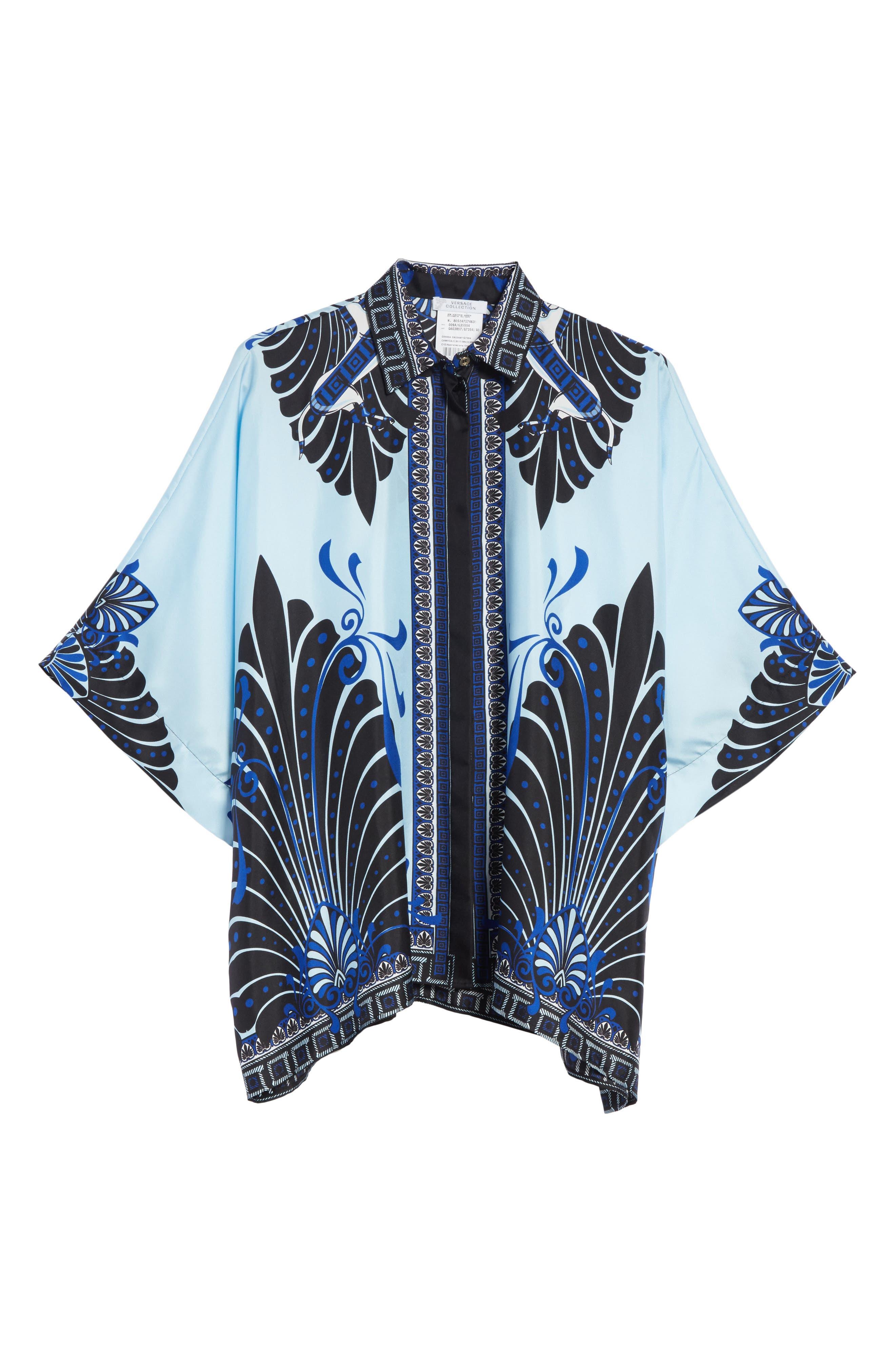 Eros Wide Sleeve Silk Shirt,                             Alternate thumbnail 6, color,                             453
