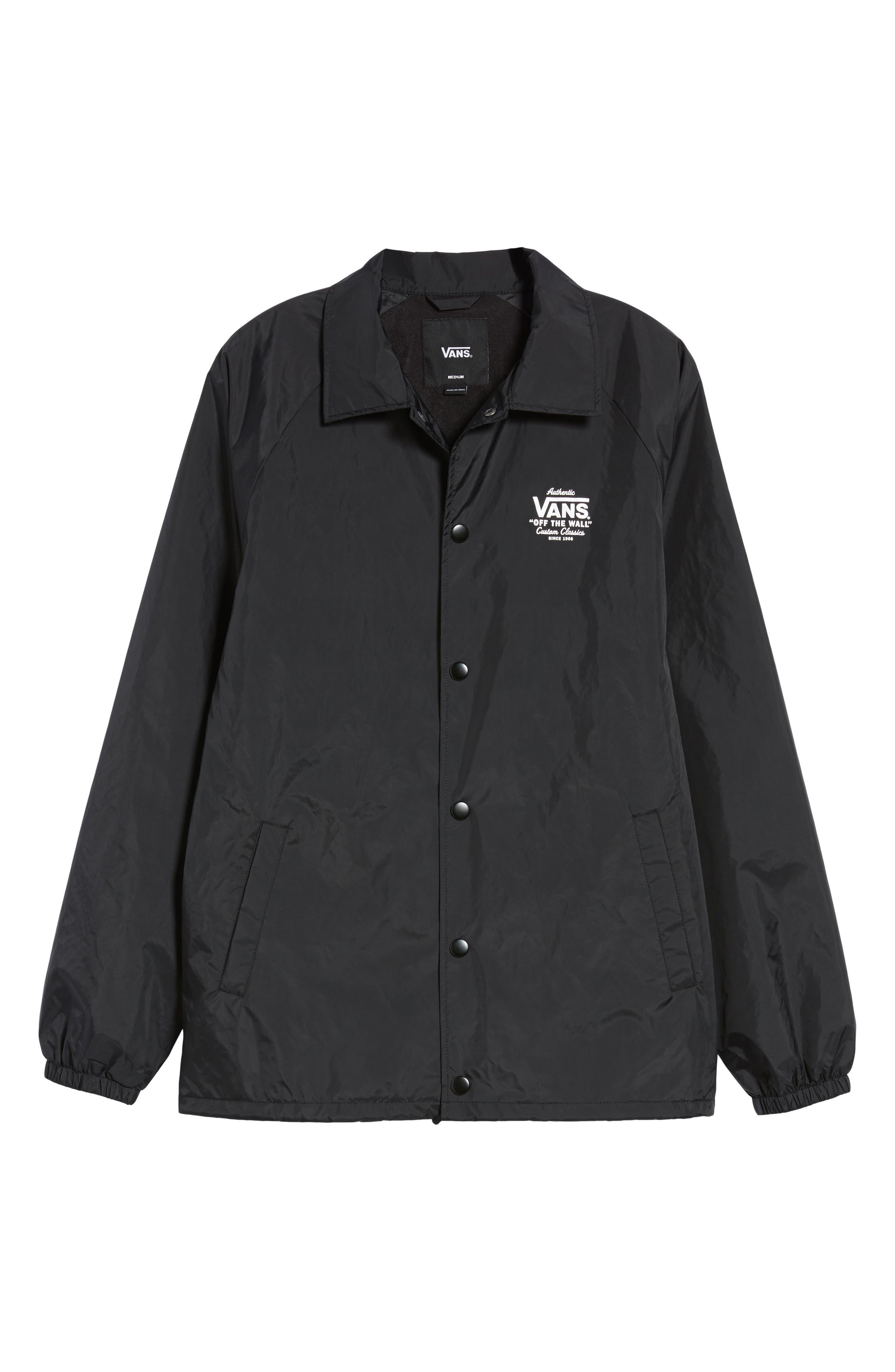 Torrey Water Resistant Jacket,                             Alternate thumbnail 5, color,                             BLACK/ WHITE