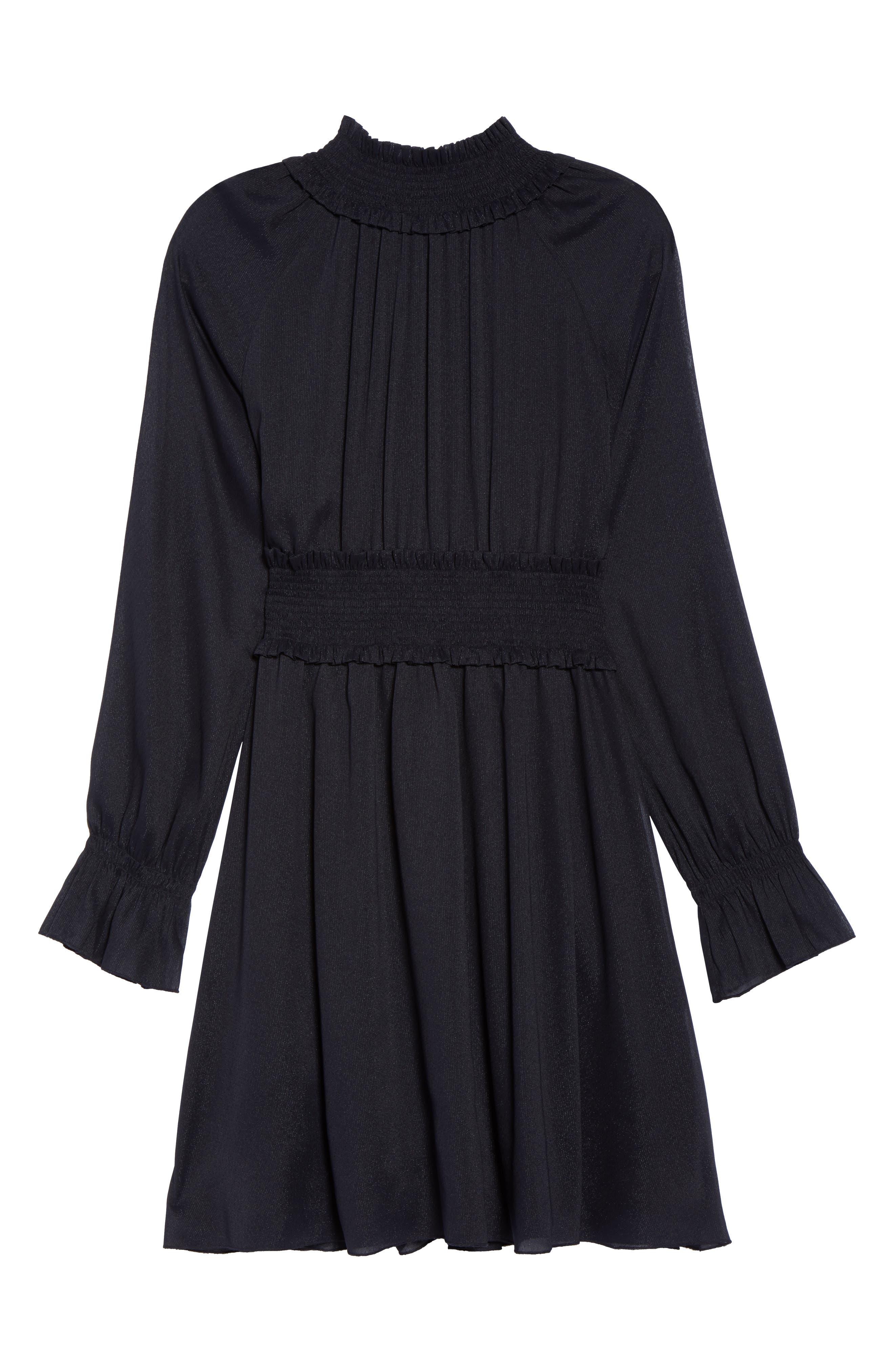 Smocked Long Sleeve Dress,                             Alternate thumbnail 6, color,                             410