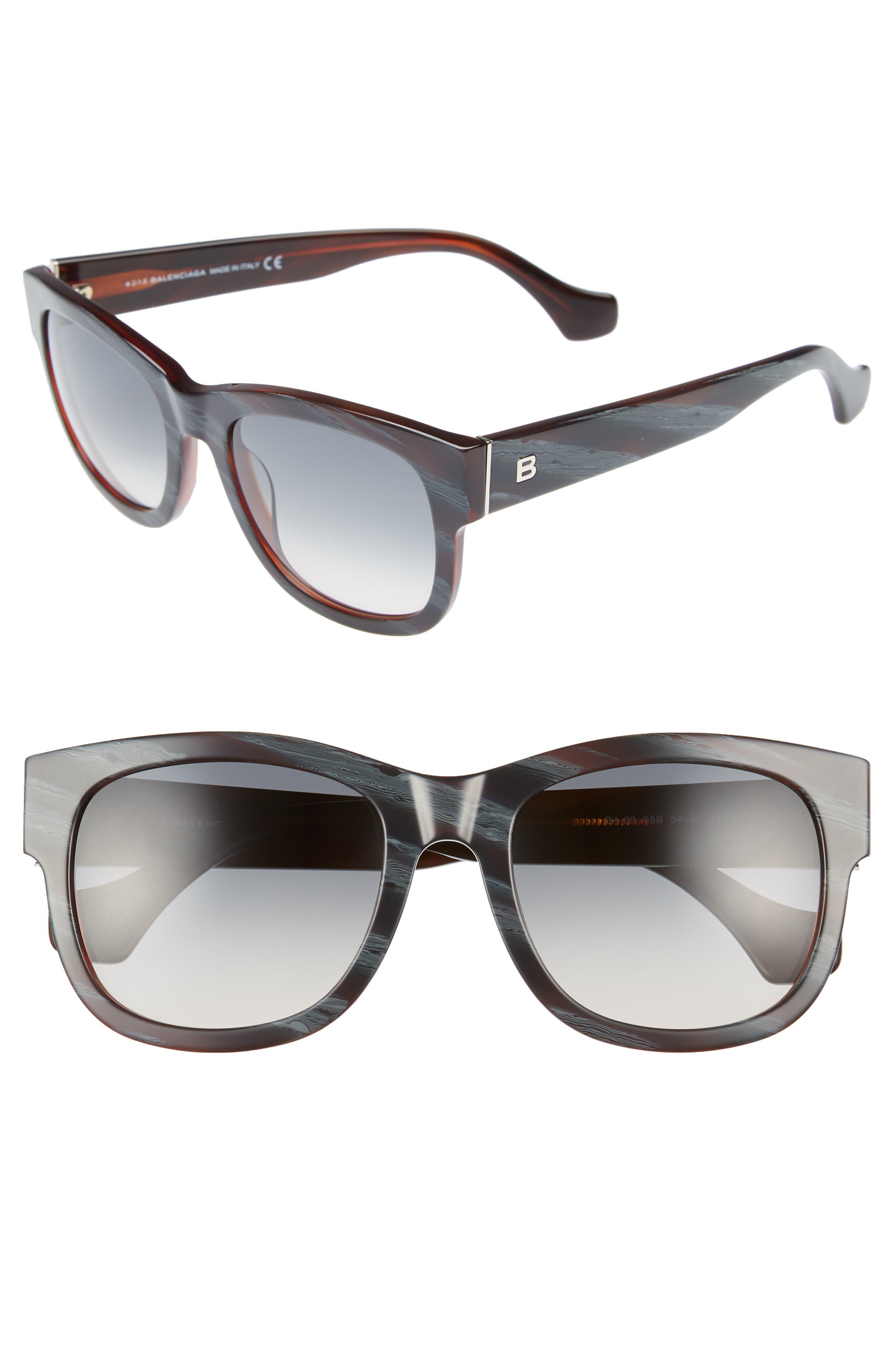 54mm Retro Sunglasses,                             Main thumbnail 1, color,                             400
