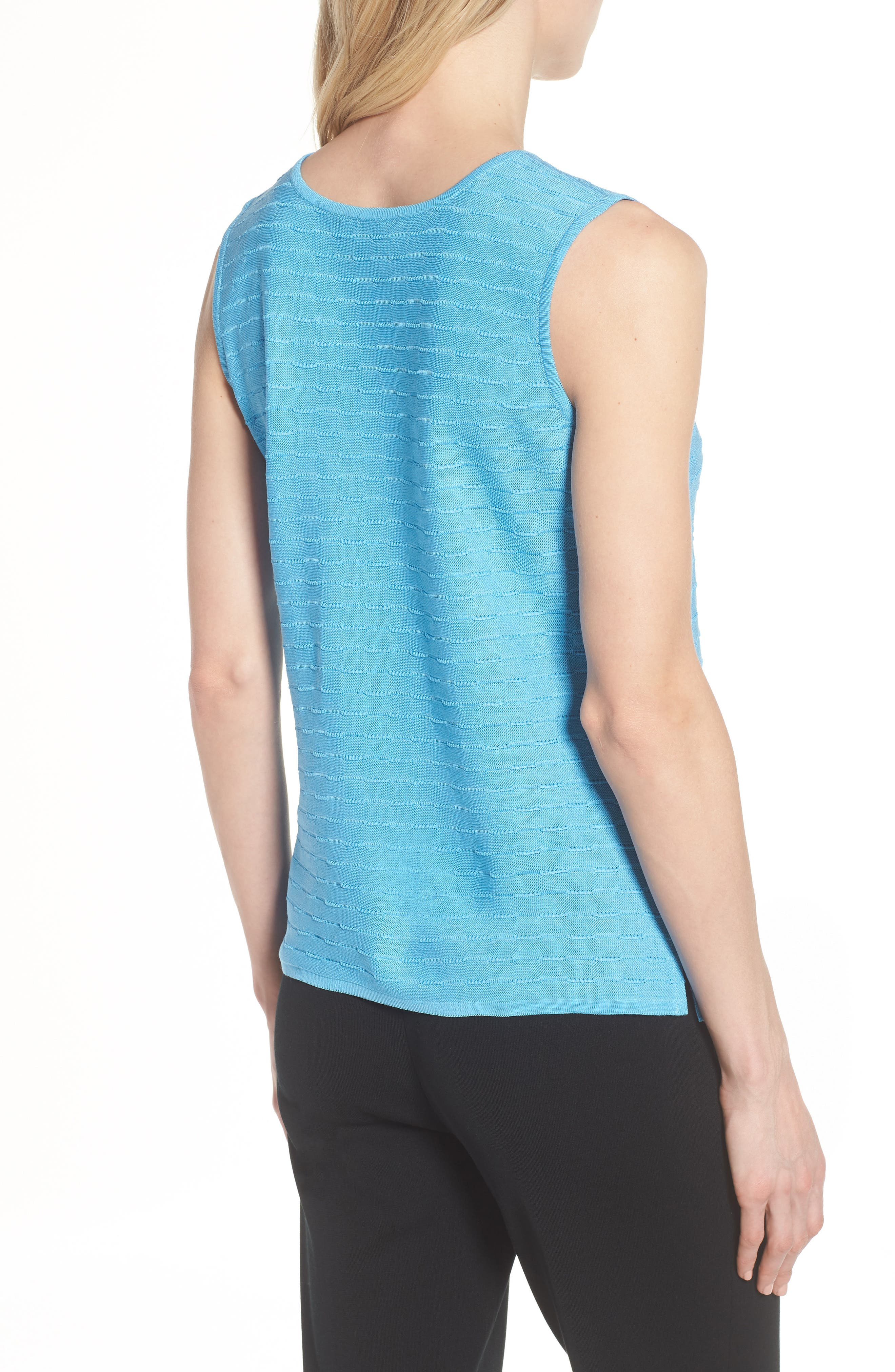 Textured Tank,                             Alternate thumbnail 2, color,                             BLUEBONNET