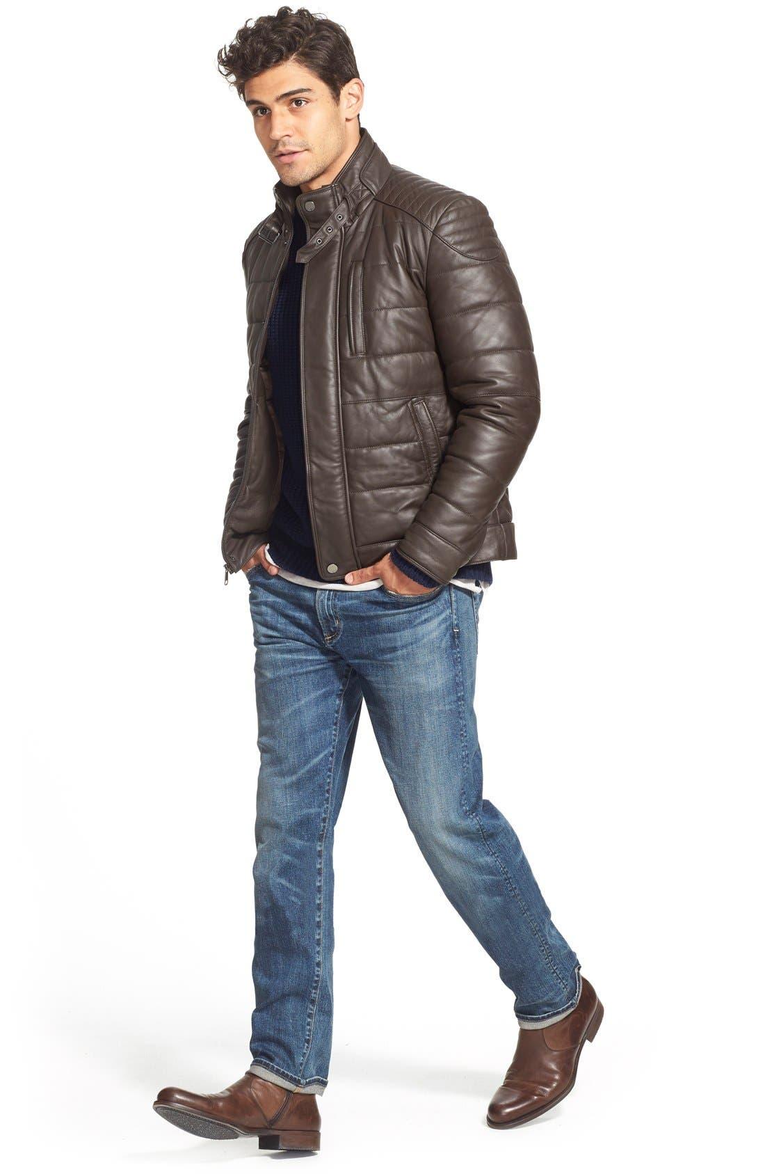 'Core' Slim Straight Leg Jeans,                             Alternate thumbnail 6, color,