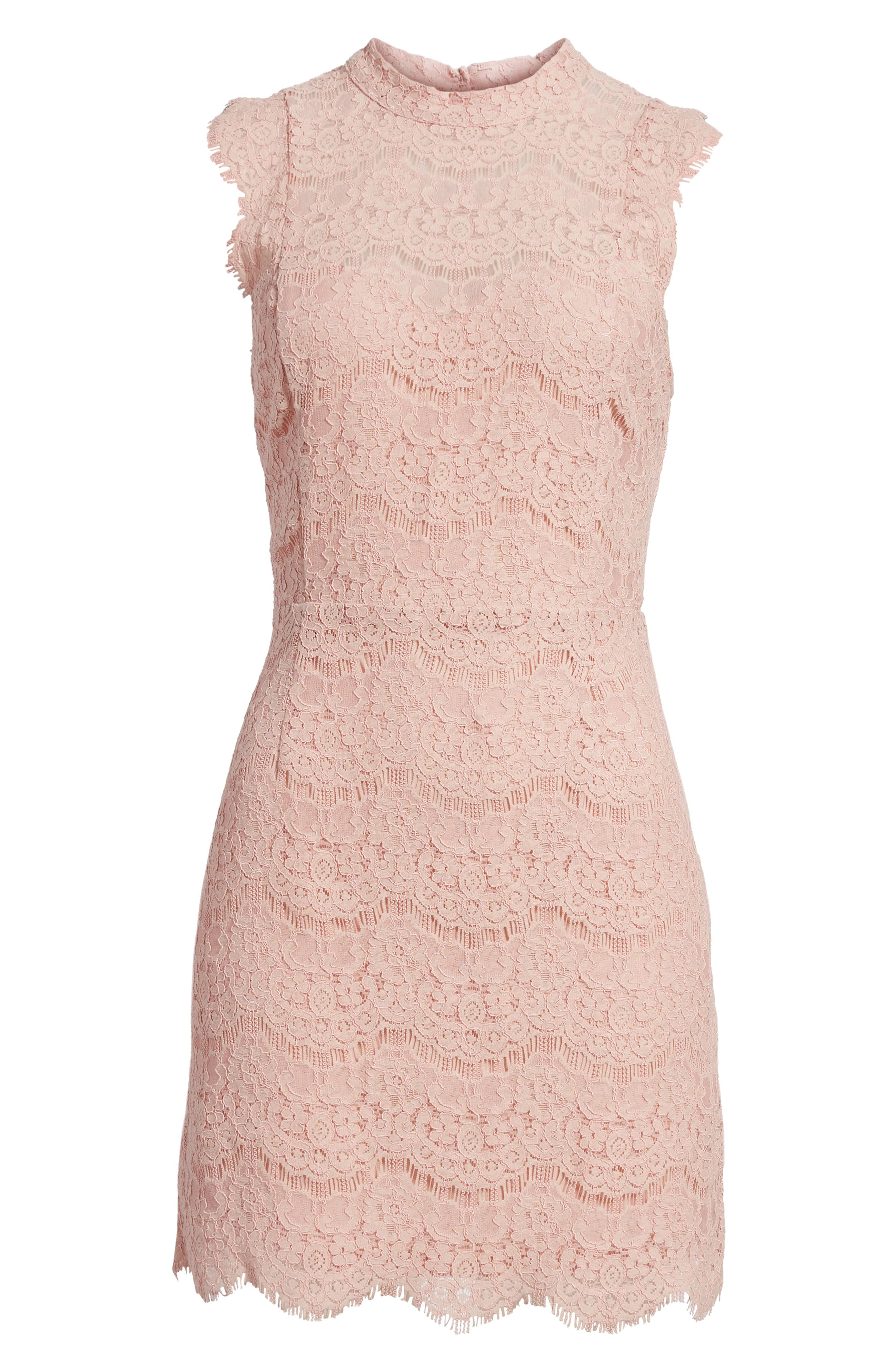 Lace Body-Con Minidress,                             Alternate thumbnail 24, color,