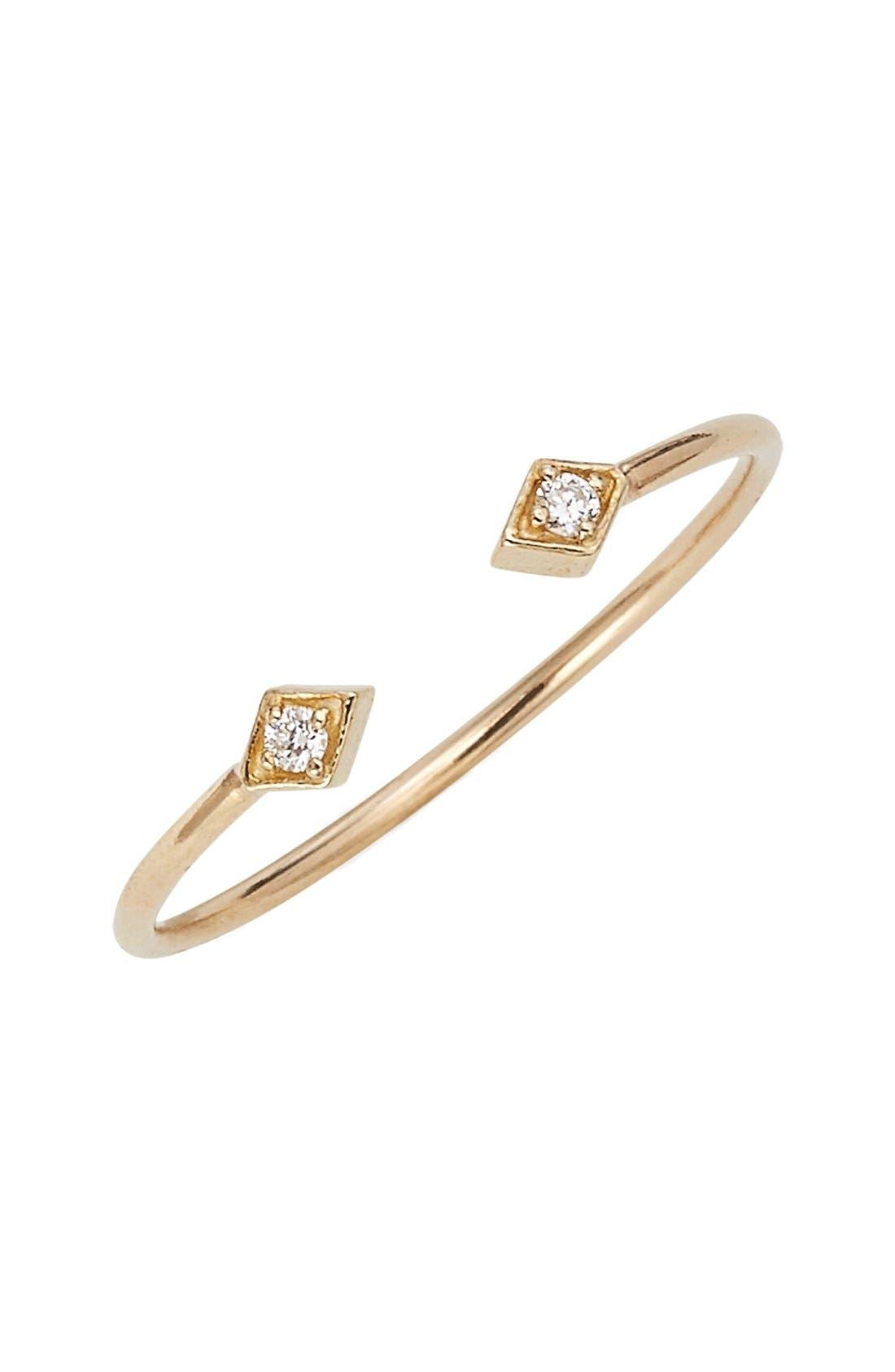 Open Diamond Ring,                             Main thumbnail 1, color,                             YELLOW GOLD