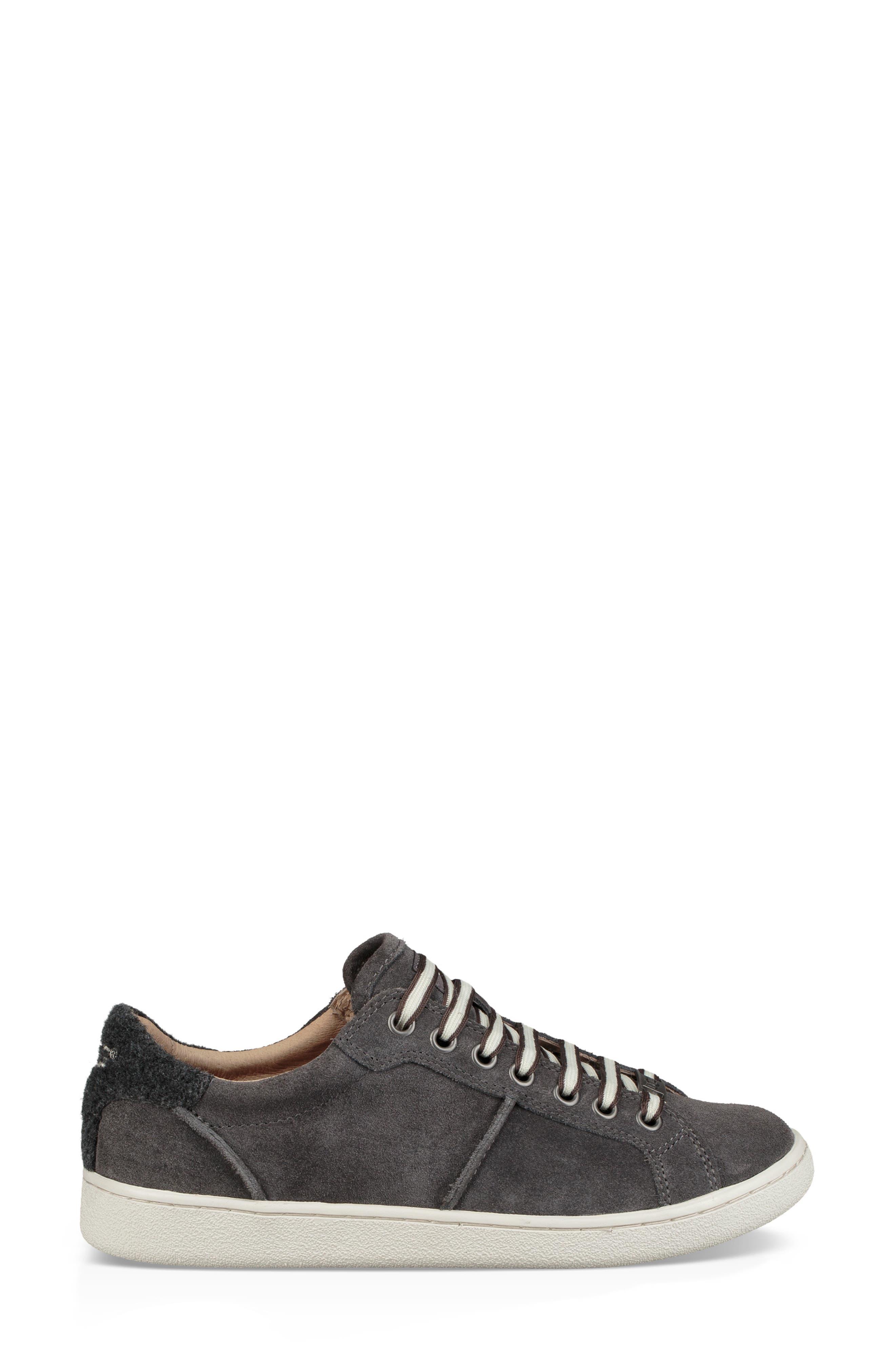 Milo Sneaker,                             Alternate thumbnail 3, color,                             CHARCOAL SUEDE
