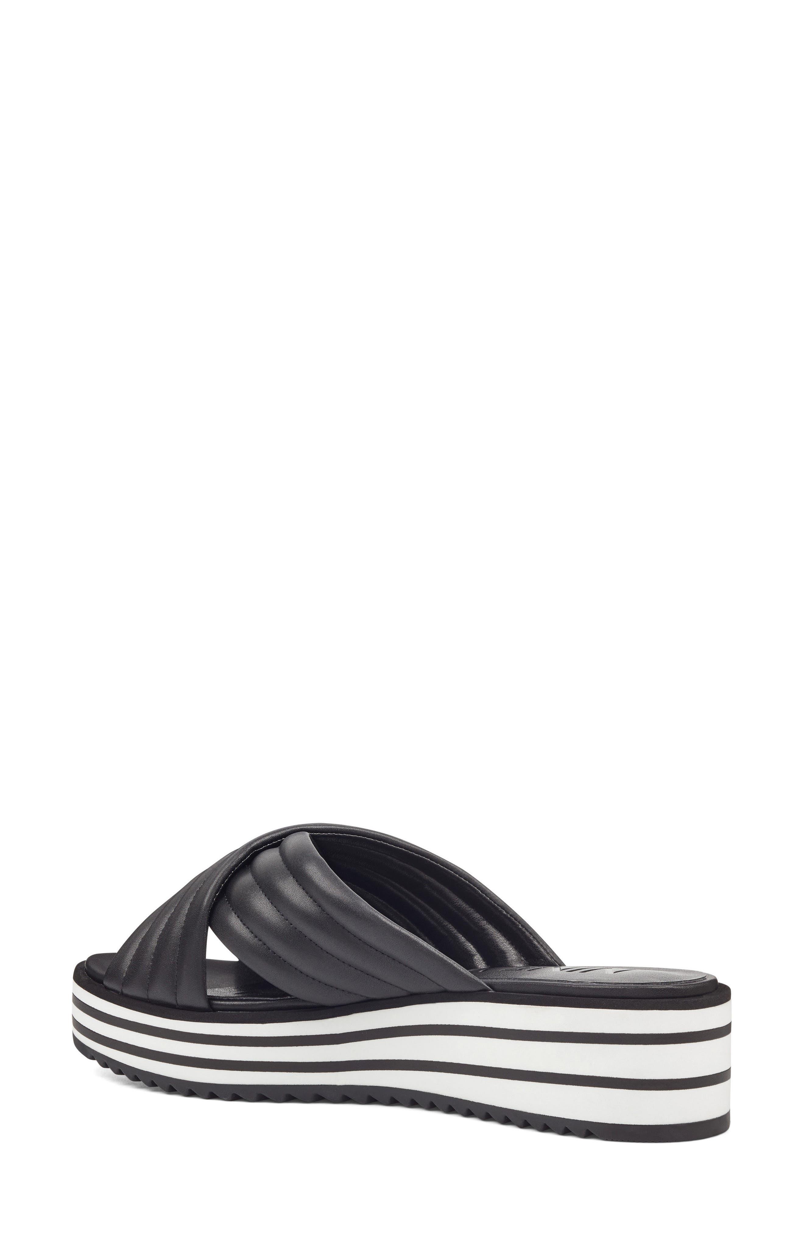 Zonita Platform Slide Sandal,                             Alternate thumbnail 4, color,