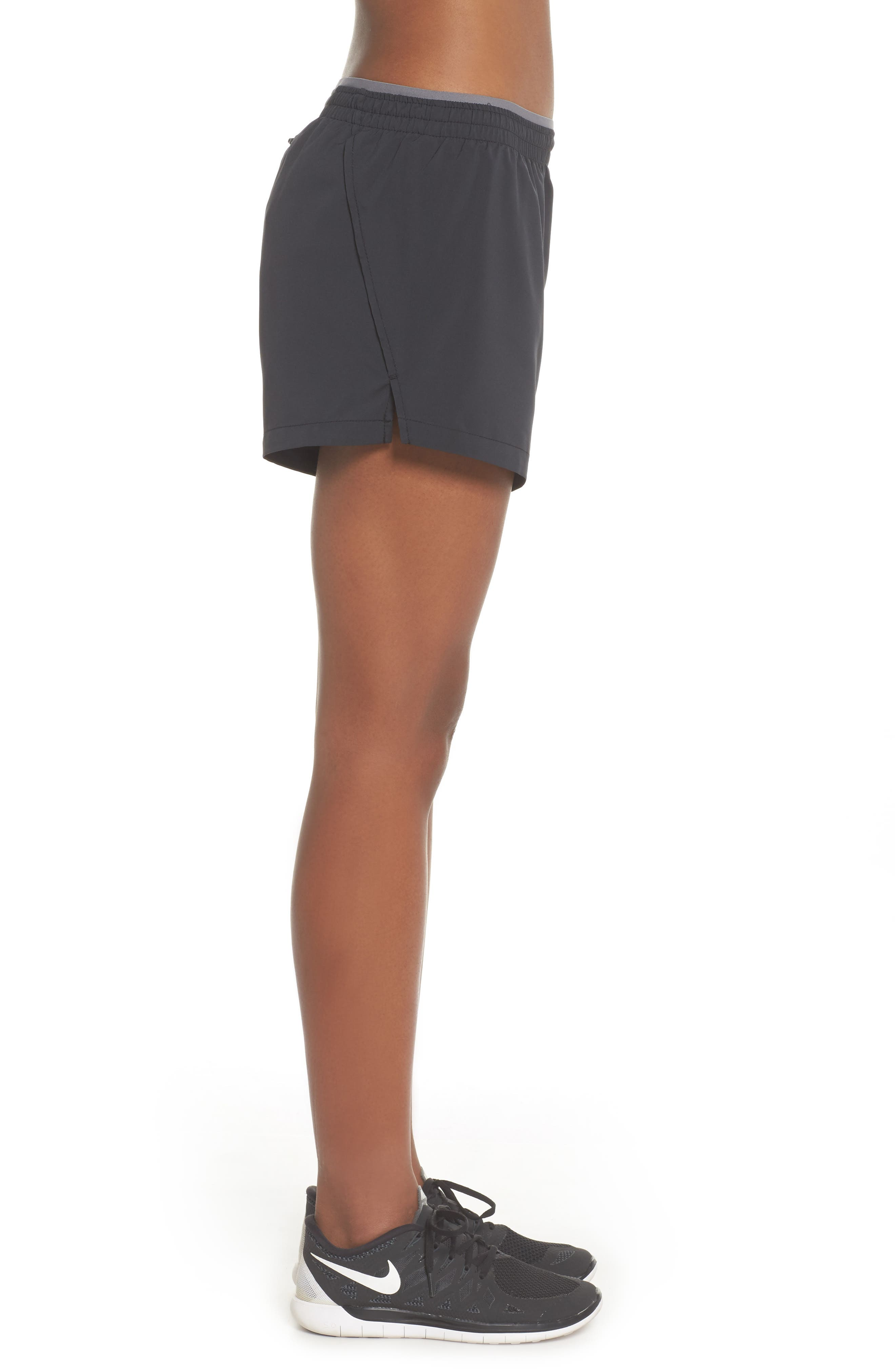 Flex 5-Inch Inseam Running Shorts,                             Alternate thumbnail 3, color,                             BLACK/ GUNSMOKE