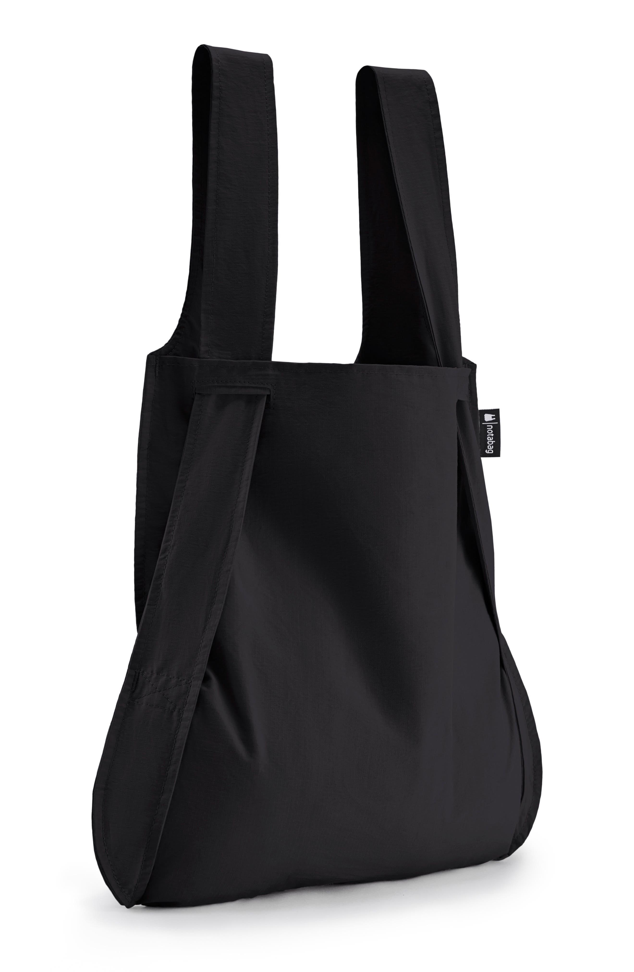 Convertible Tote Backpack,                             Alternate thumbnail 4, color,                             BLACK