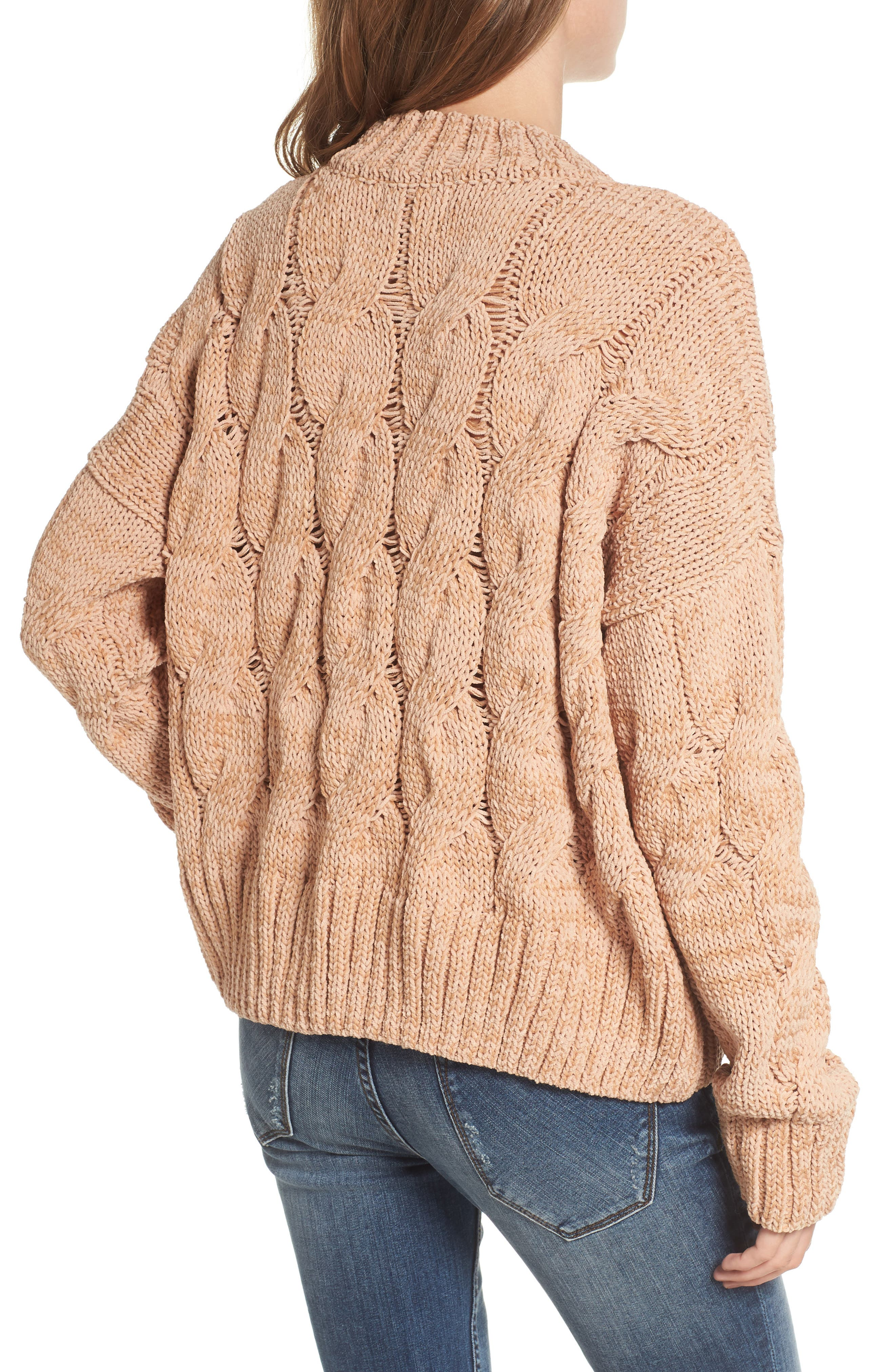 Cable Knit Sweater,                             Alternate thumbnail 2, color,                             650