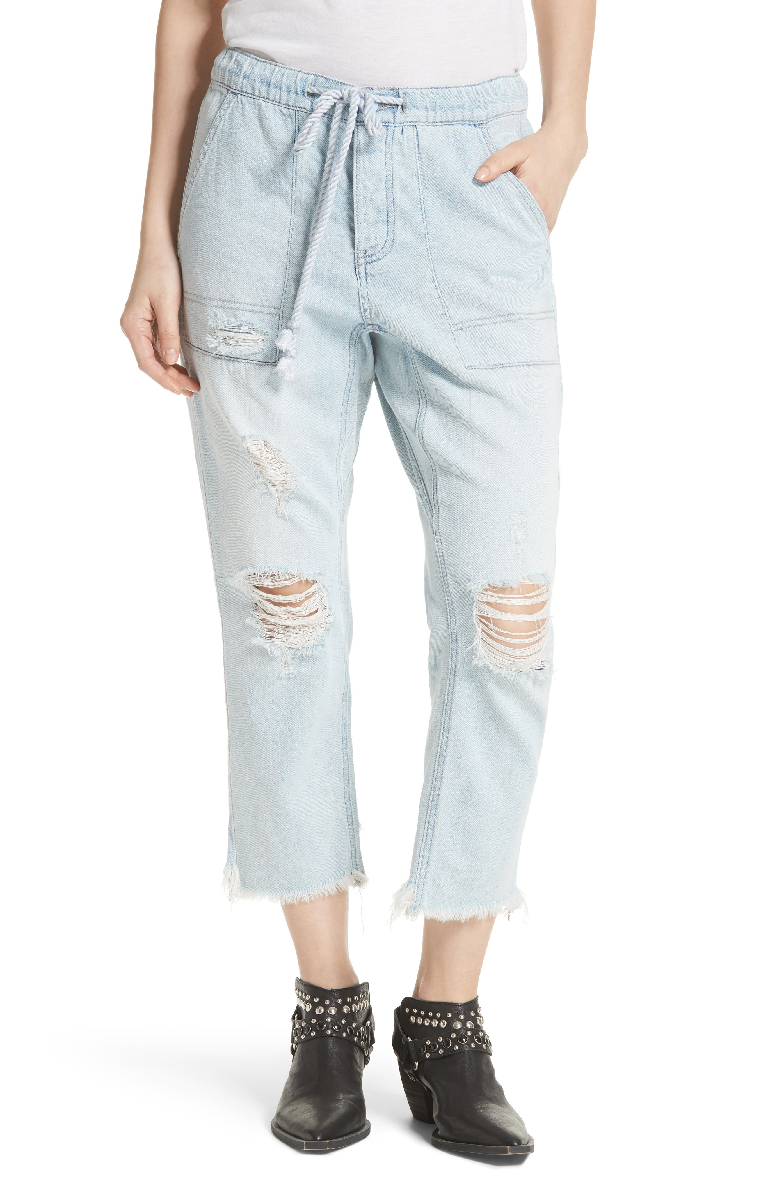 Northern Sky Ripped Crop Jeans,                         Main,                         color, 400