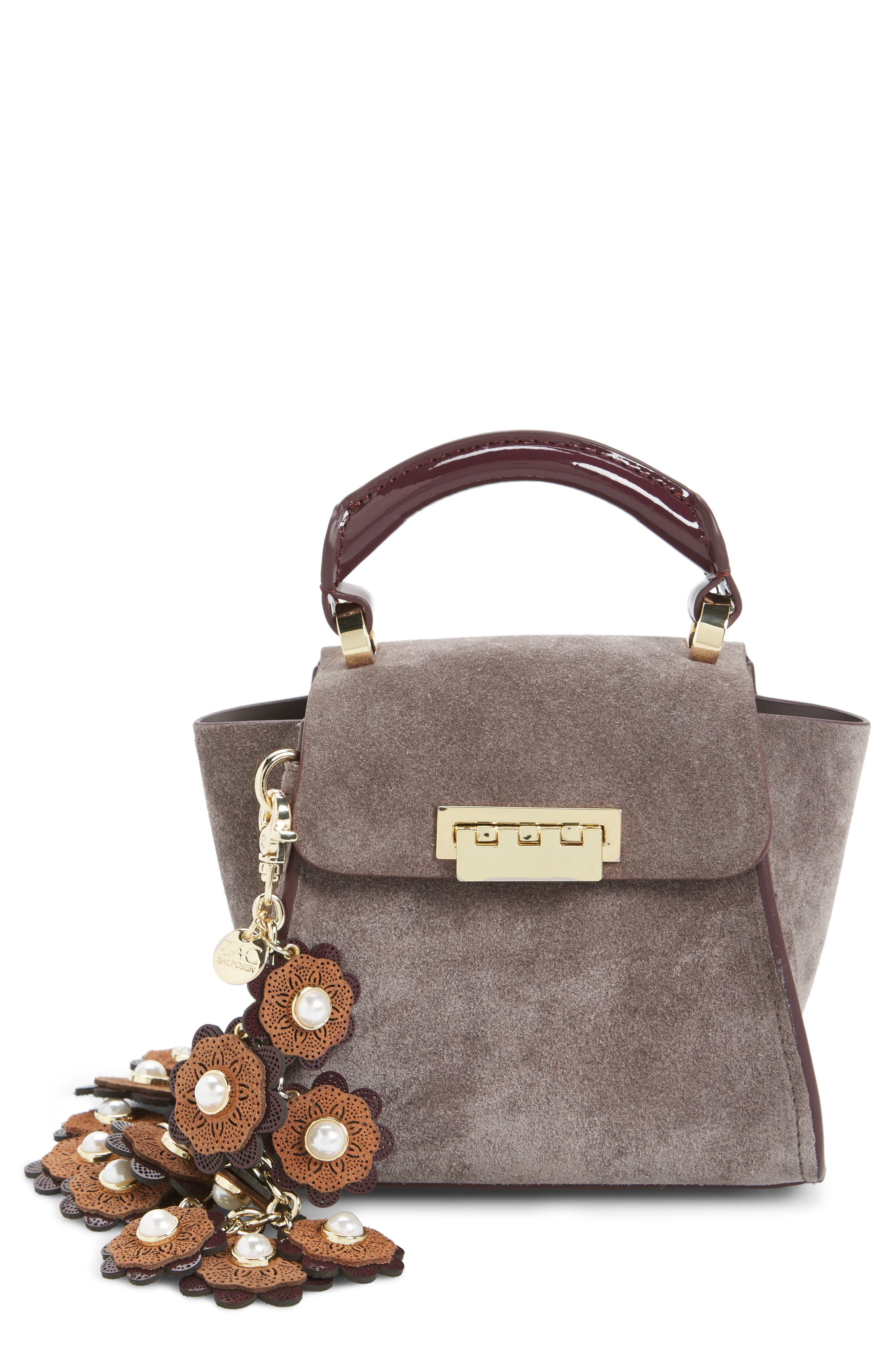 Mini Eartha Iconic Calfskin Suede Top Handle Satchel,                         Main,                         color, 532