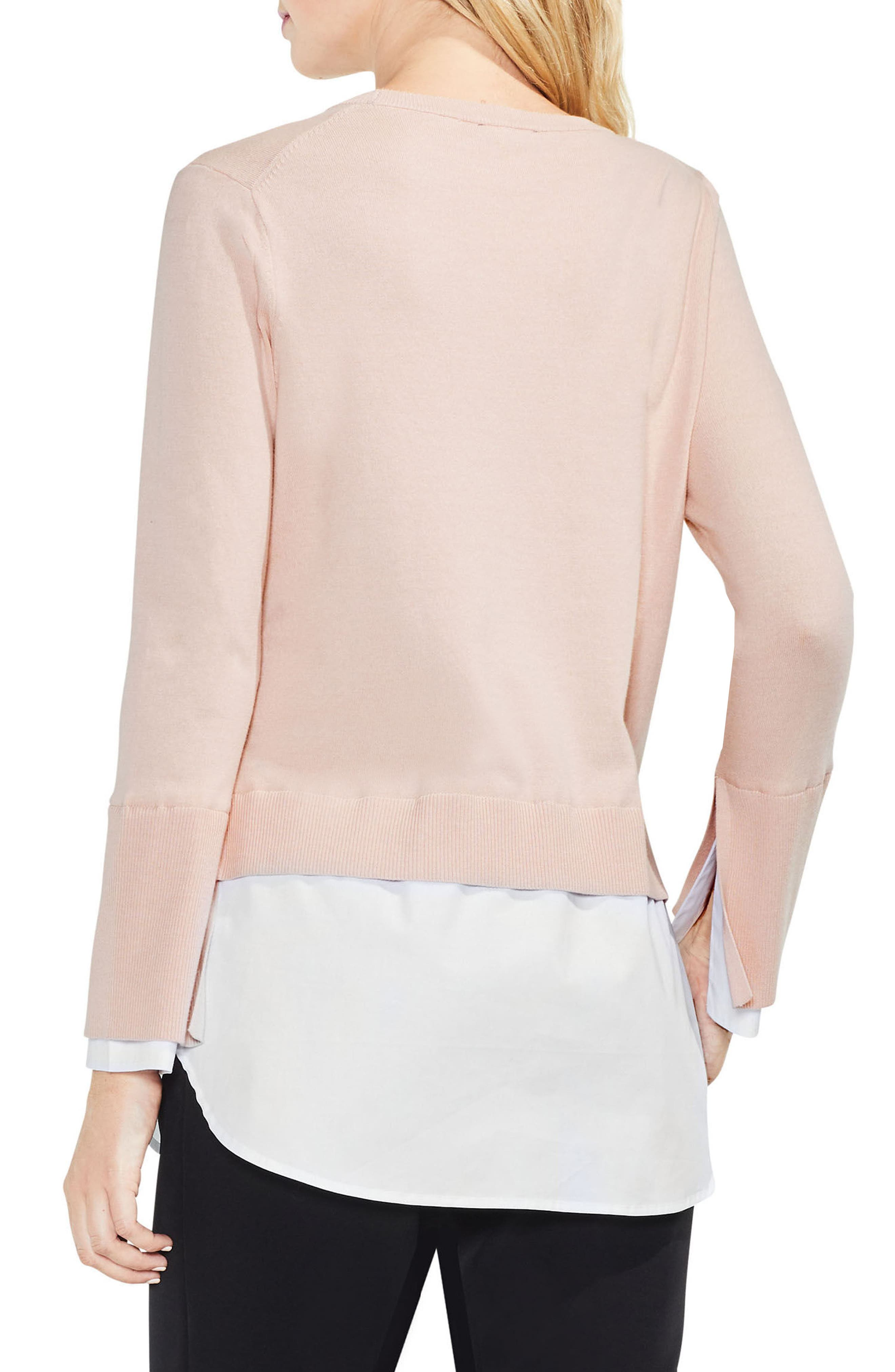 Layered Look Sweater,                             Alternate thumbnail 5, color,
