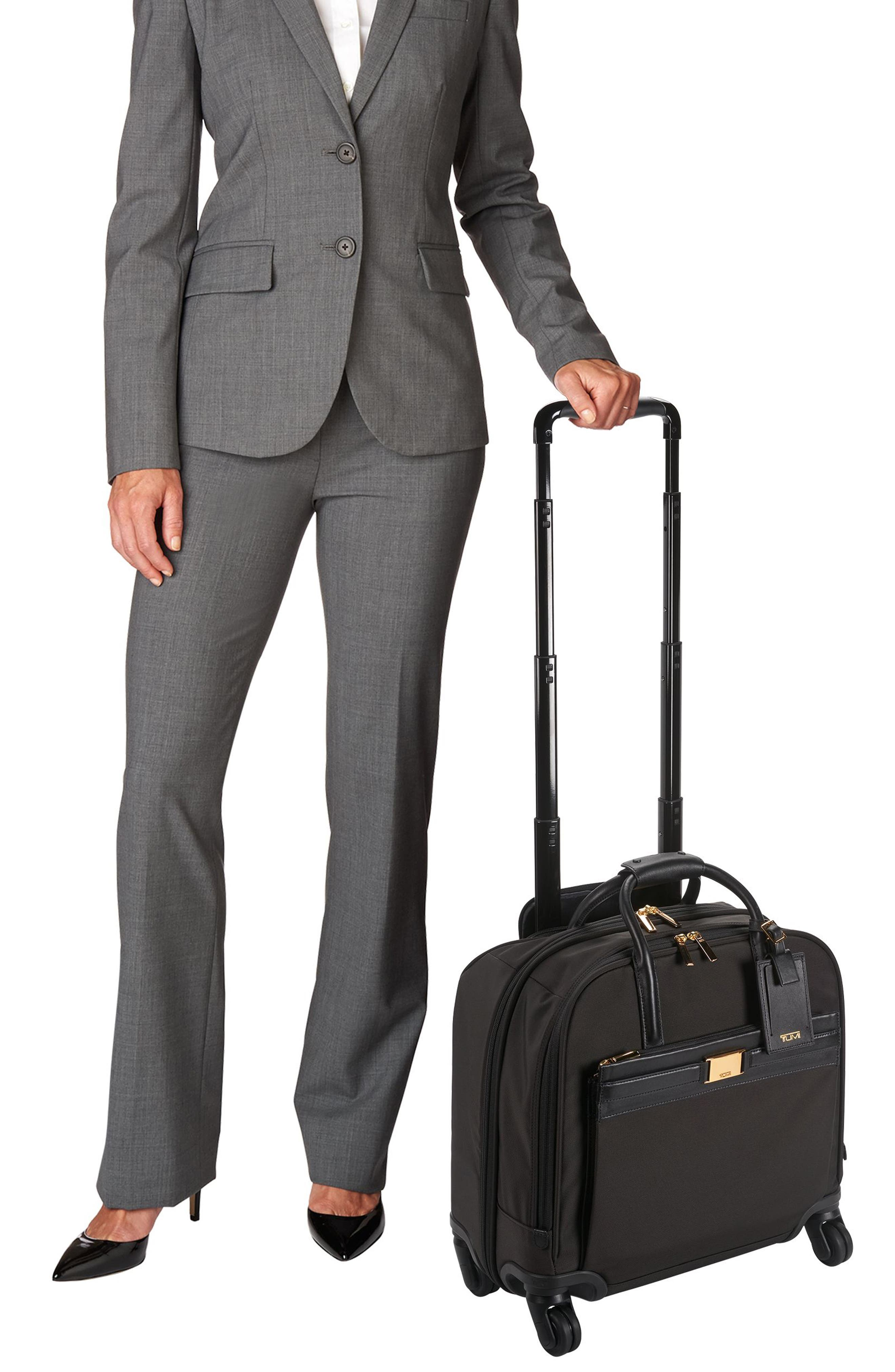 Larkin - Shannon 11-Inch Compact Nylon Wheeled Carry-On,                             Alternate thumbnail 4, color,                             001