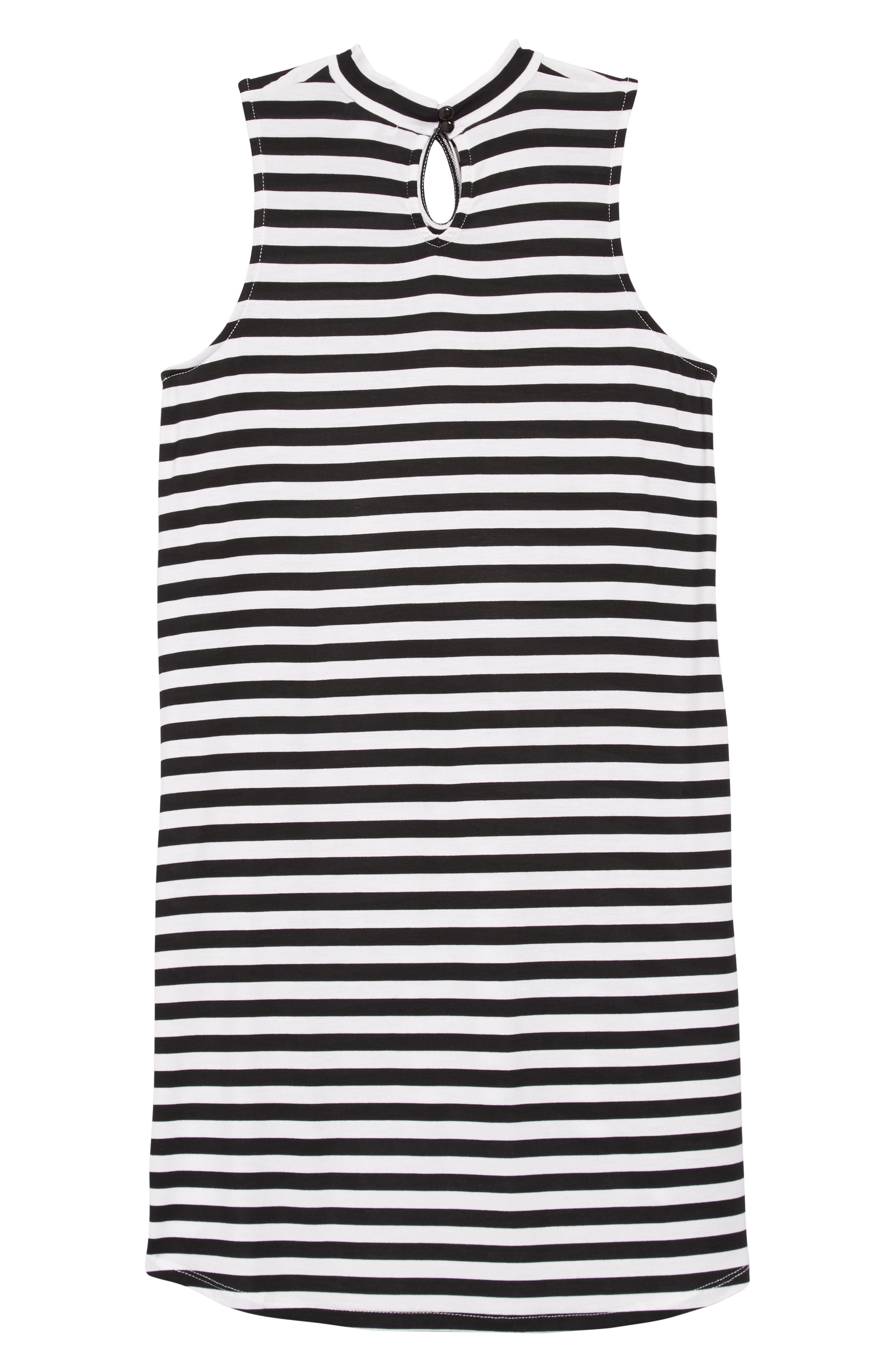 Keyhole Mock Neck Dress,                             Alternate thumbnail 2, color,                             001