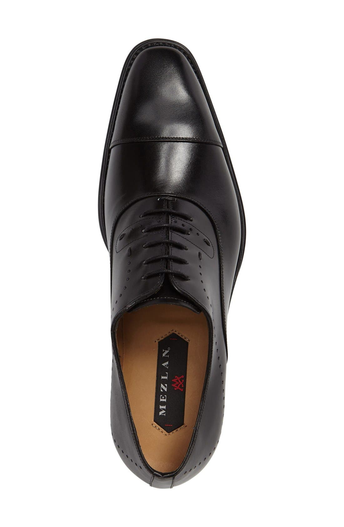 'Fermo' Cap Toe Perforated Oxford,                             Alternate thumbnail 3, color,                             001