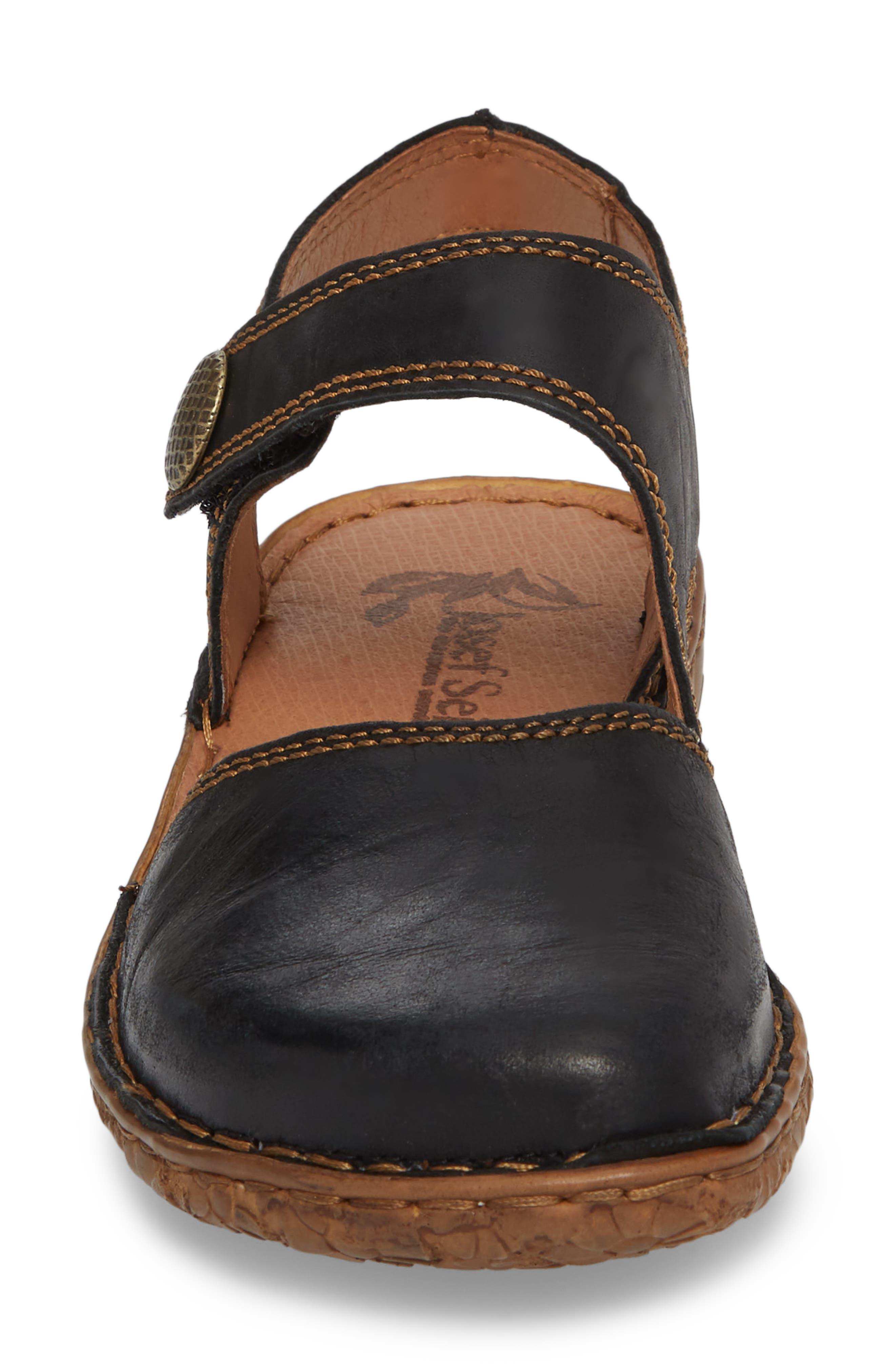 JOSEF SEIBEL,                             Rosalie 27 Sandal,                             Alternate thumbnail 4, color,                             BLACK LEATHER
