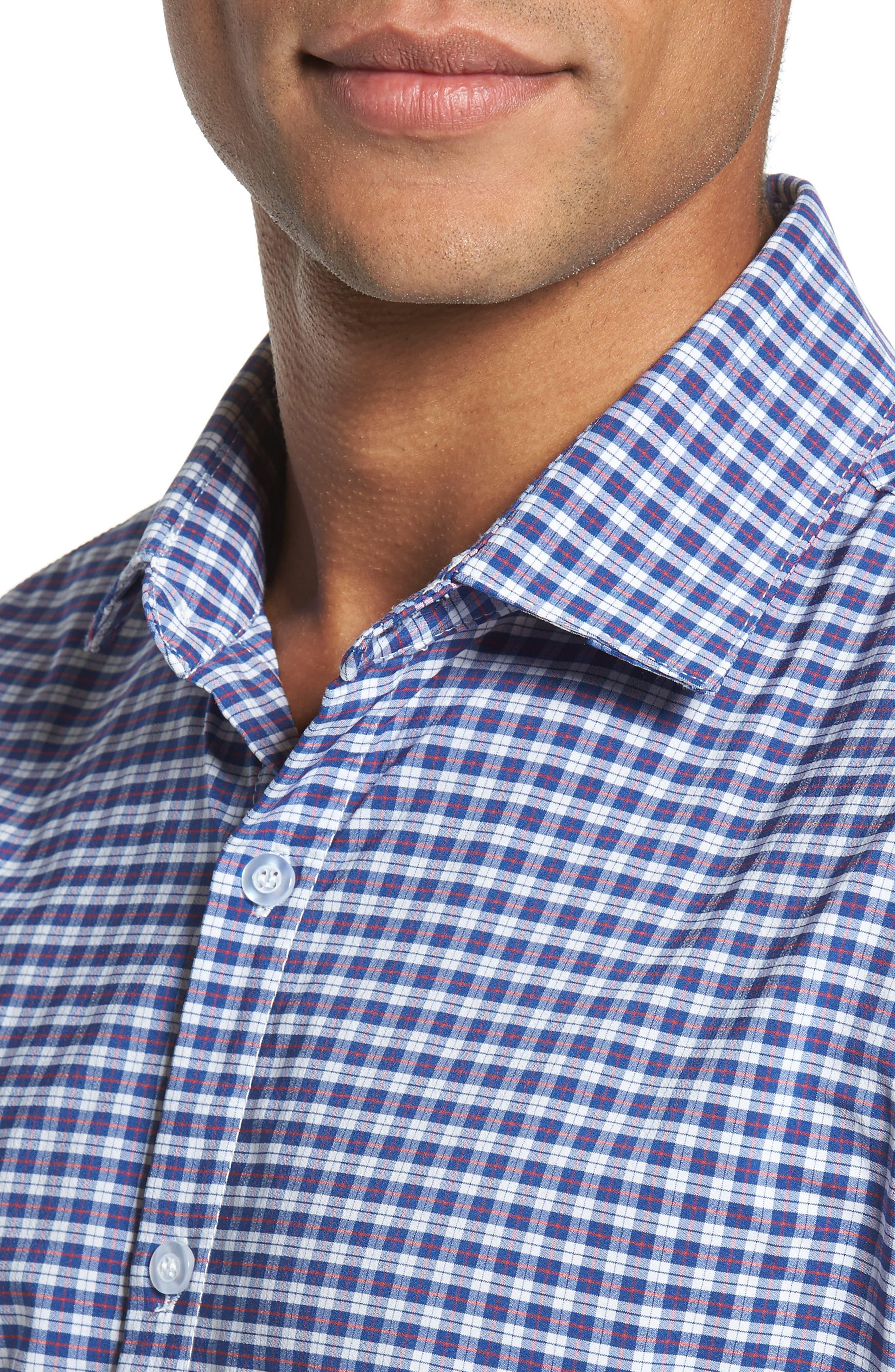 Howe 2.0 Plaid Sport Shirt,                             Alternate thumbnail 4, color,                             MULTI