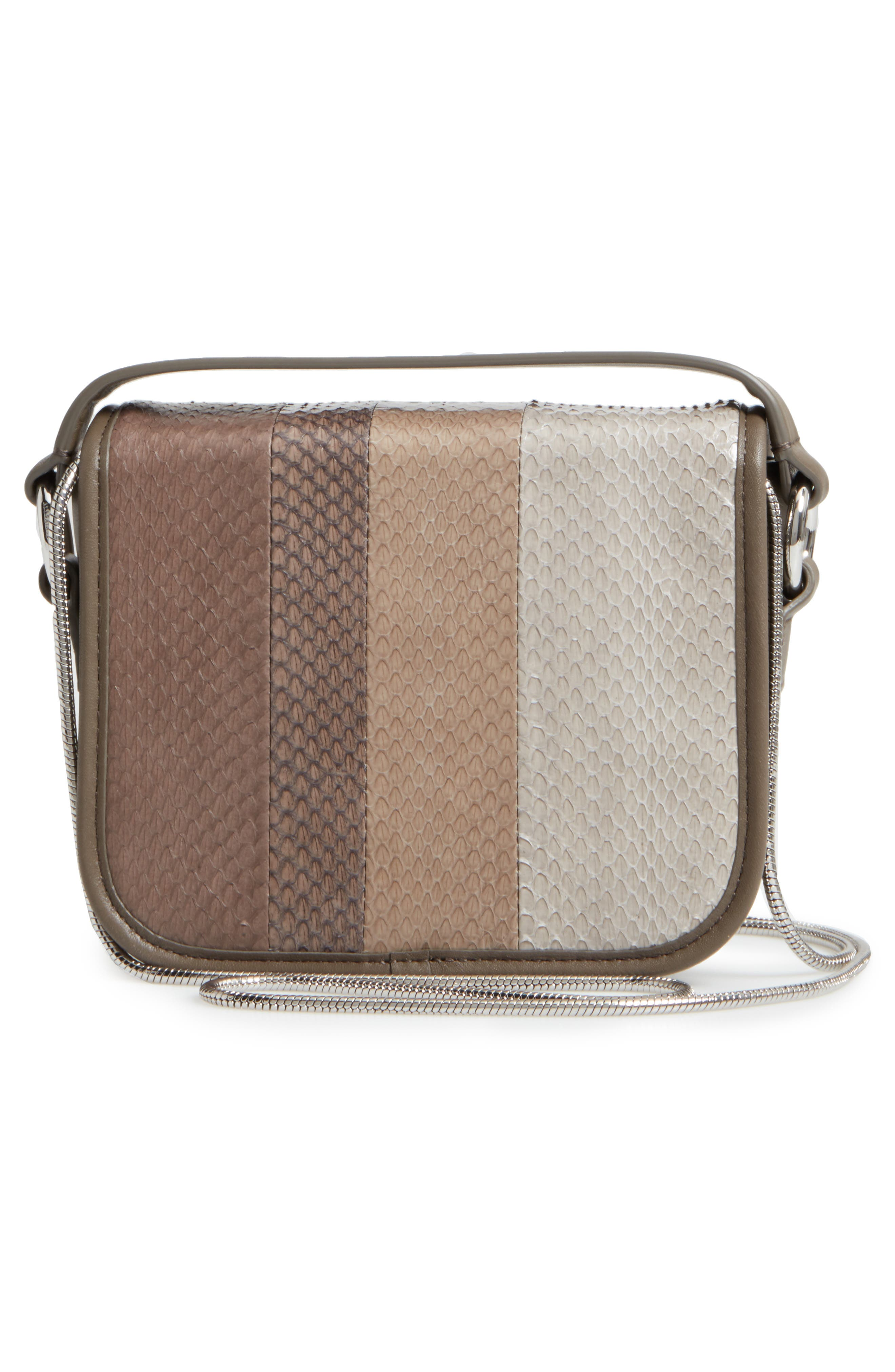 Ikuya Leather & Genuine Snakeskin Clutch,                             Alternate thumbnail 3, color,                             031