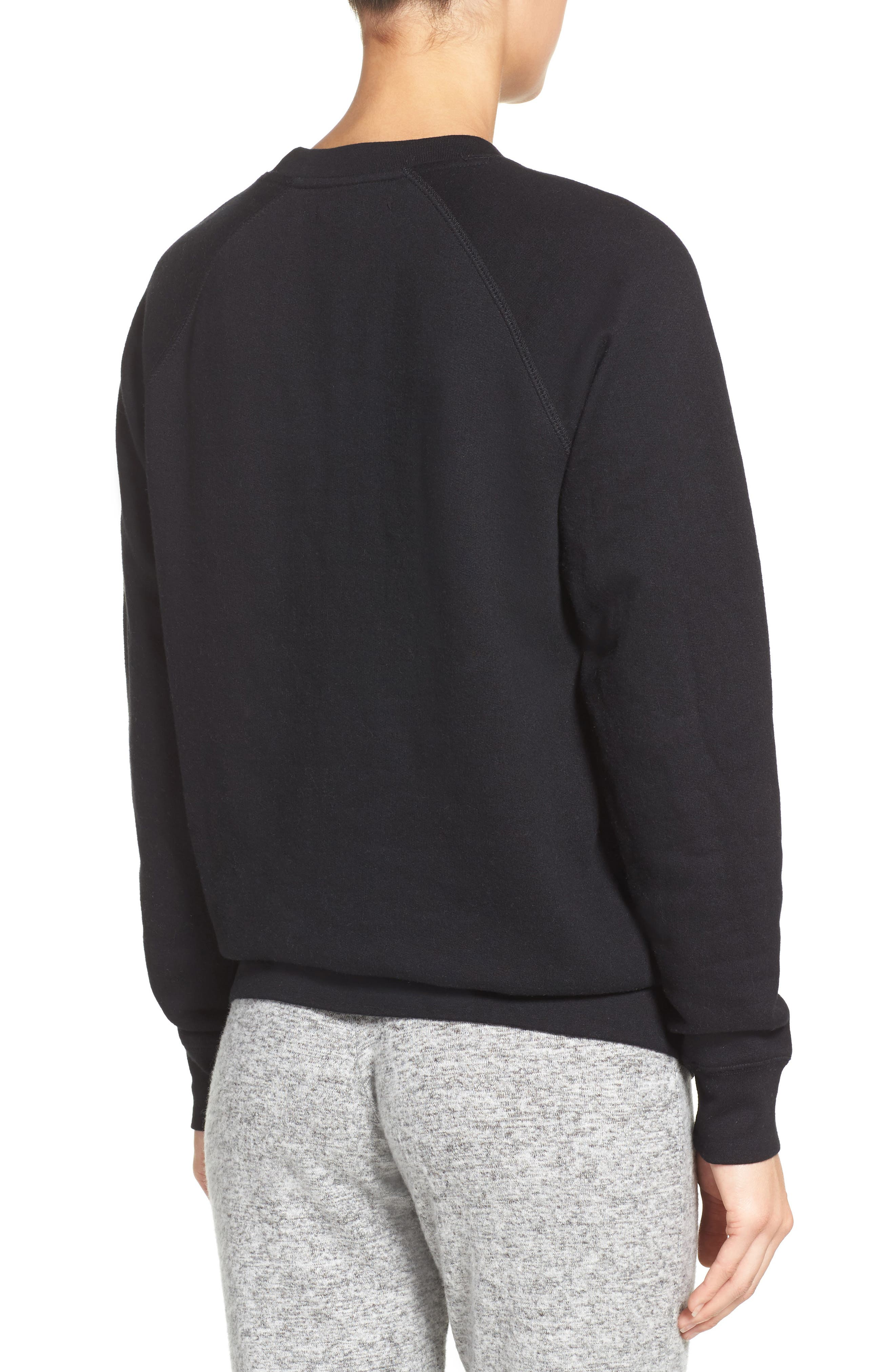 Blonde Crewneck Sweatshirt,                             Alternate thumbnail 2, color,                             001