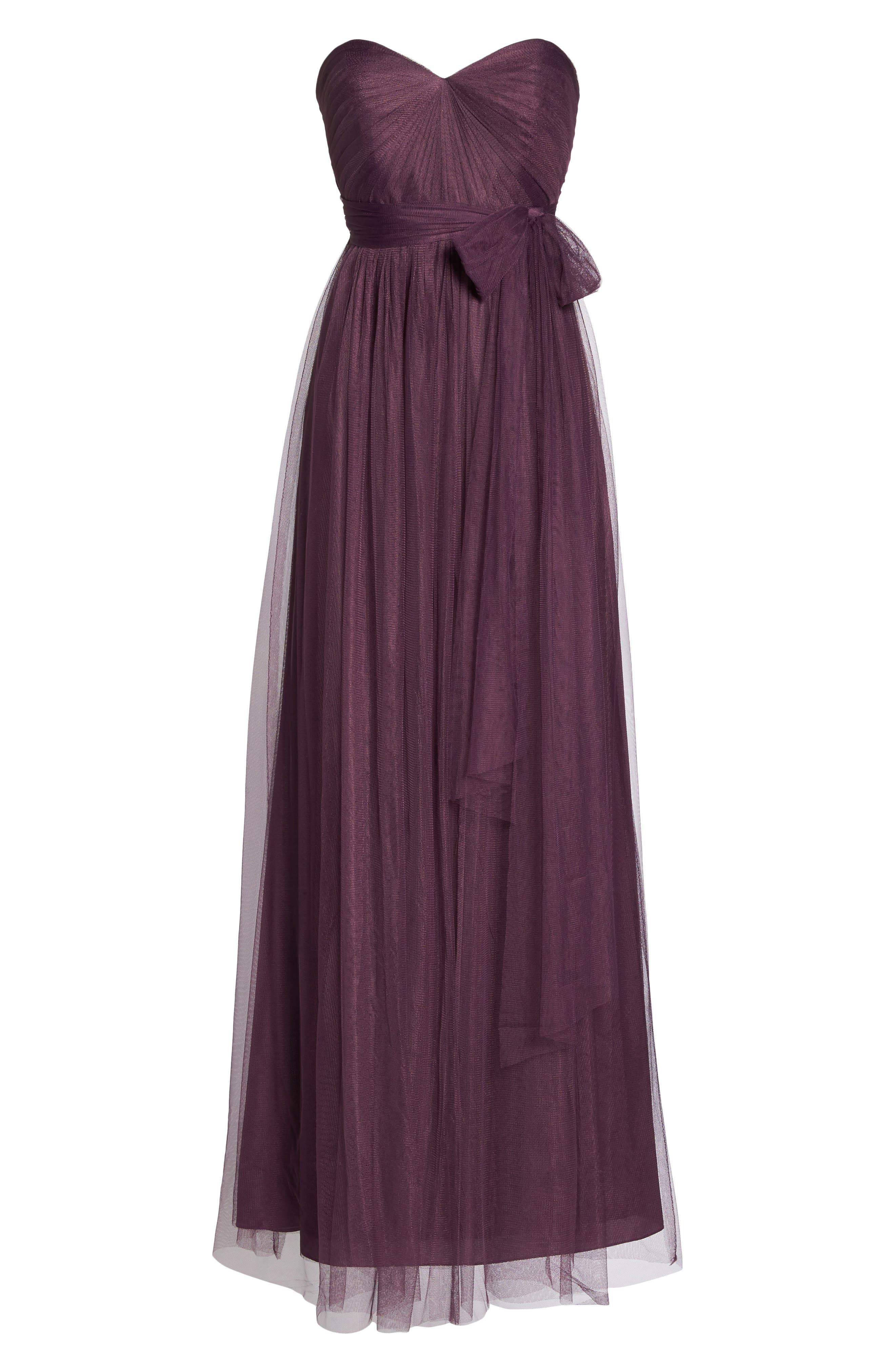 Annabelle Convertible Tulle Column Dress,                             Alternate thumbnail 166, color,