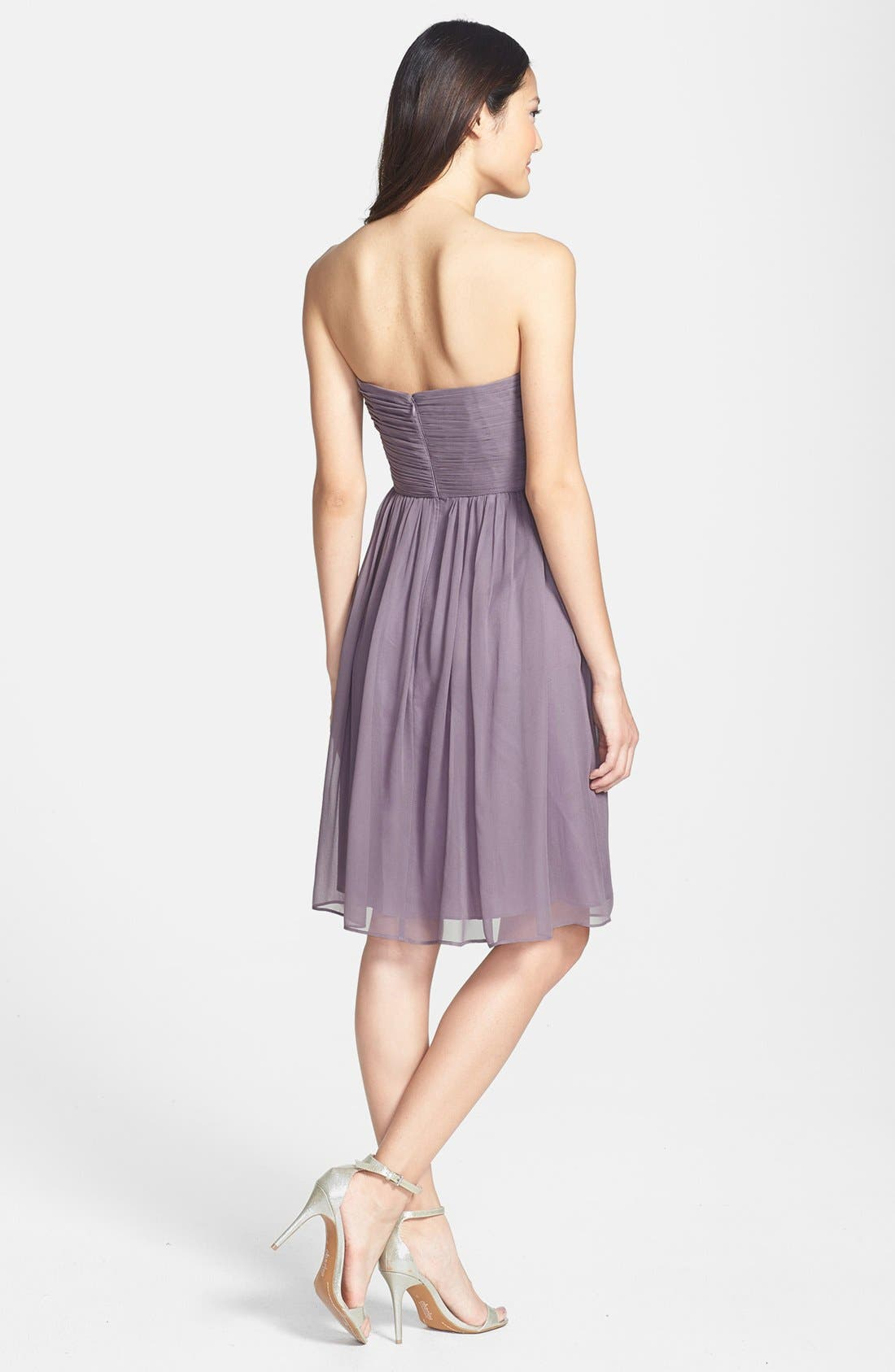 'Morgan' Strapless Silk Chiffon Dress,                             Alternate thumbnail 43, color,