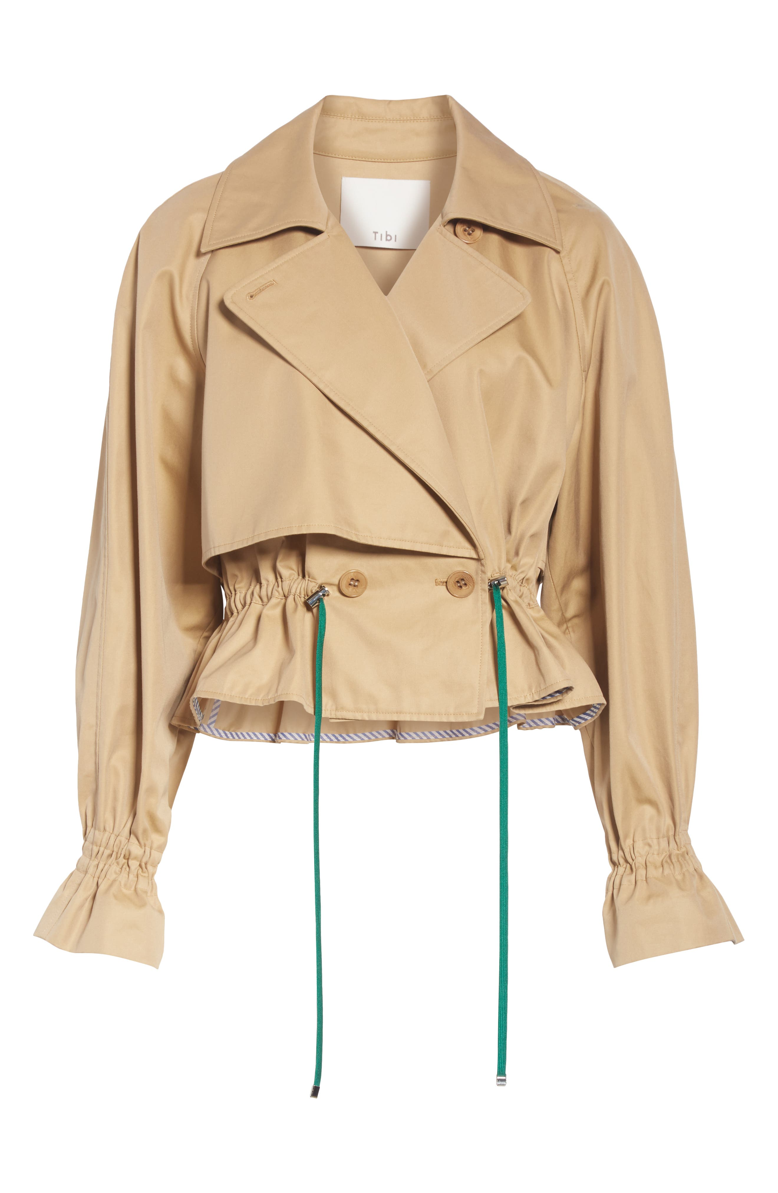Finn Water Resistant Twill Crop Trench Coat,                             Alternate thumbnail 5, color,                             250