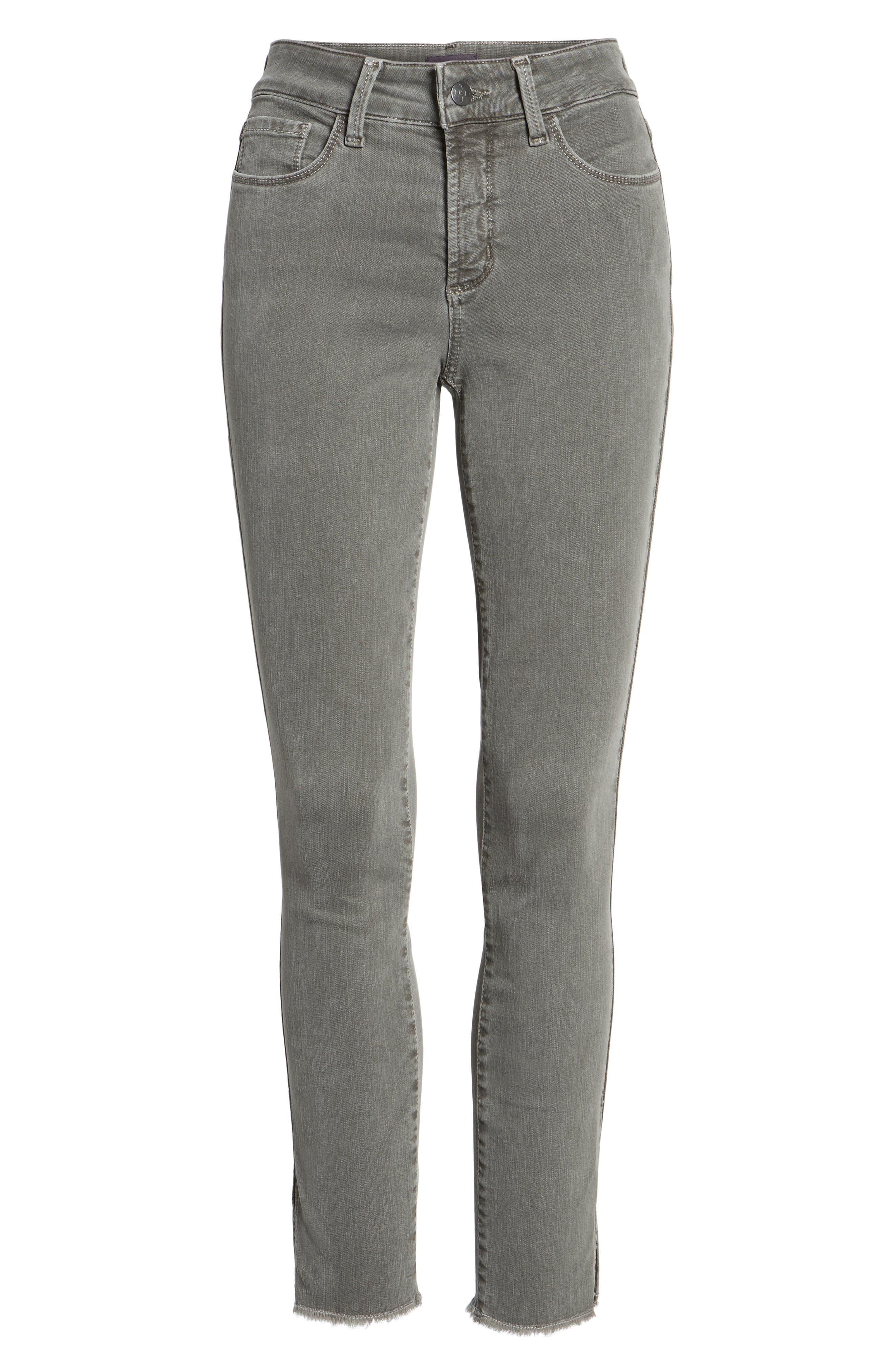 Ami Frayed Hem Stretch Skinny Ankle Jeans,                             Alternate thumbnail 6, color,                             038